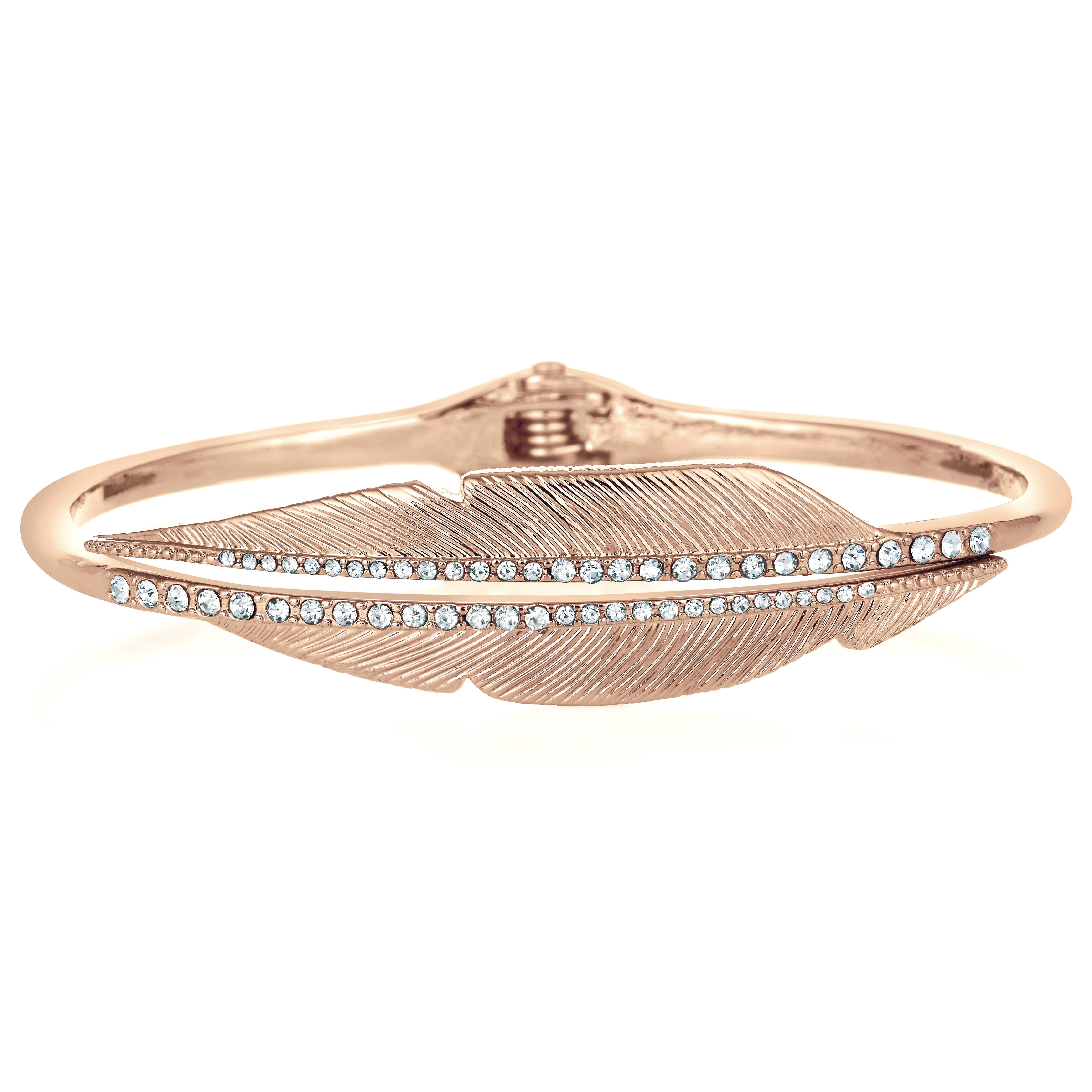 Buckley London Angel Feather Bangle - Rose Gold