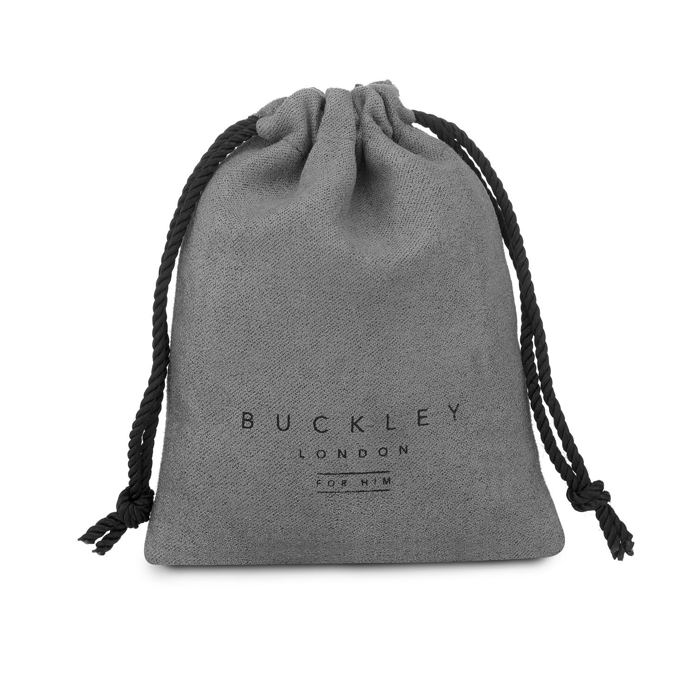 Buckley London For Him Logan Barrel Bead Bracelet - Hematite
