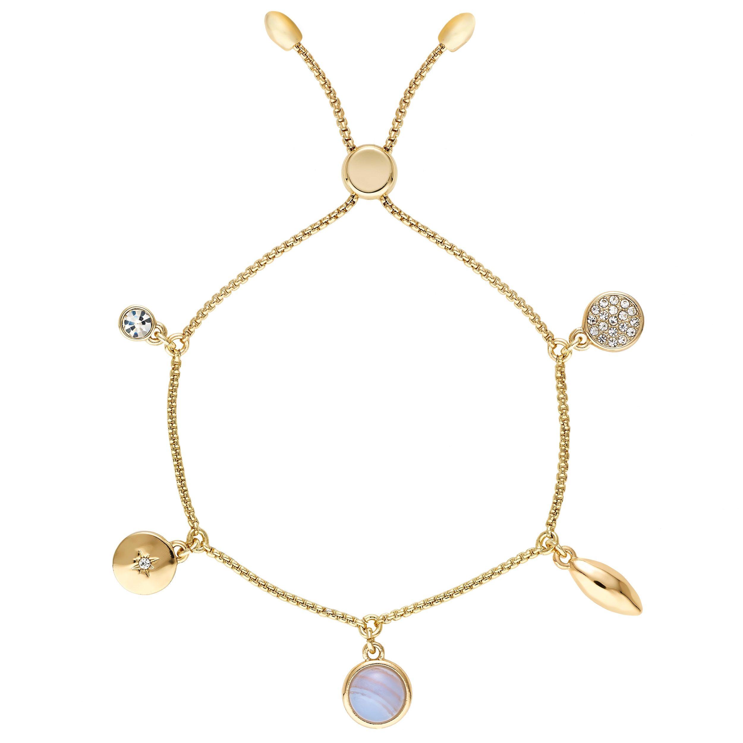 Buckley London Eyre Hammered Charm Bracelet
