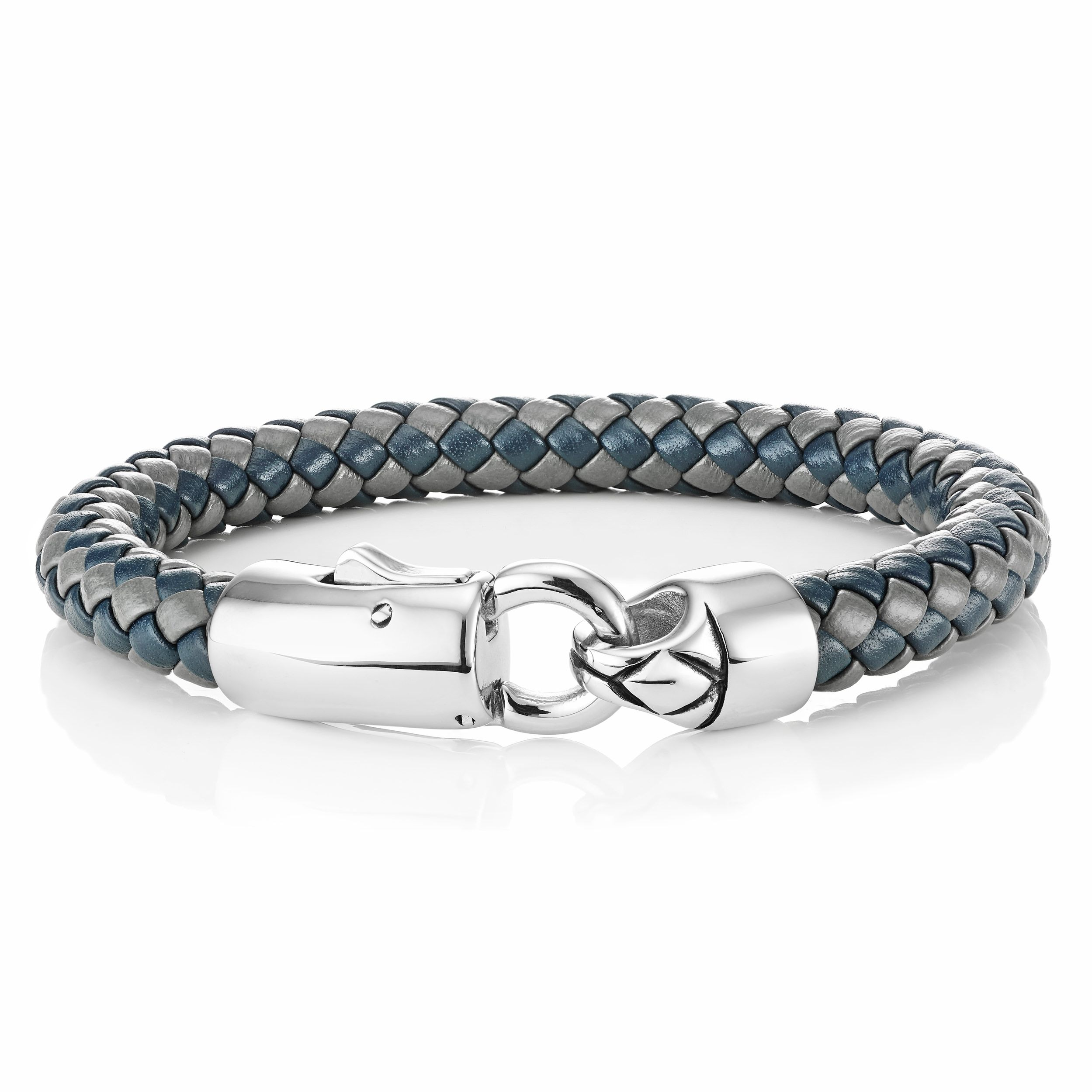 Buckley London For Him Barbican Chunky Leather Clasp Bracelet