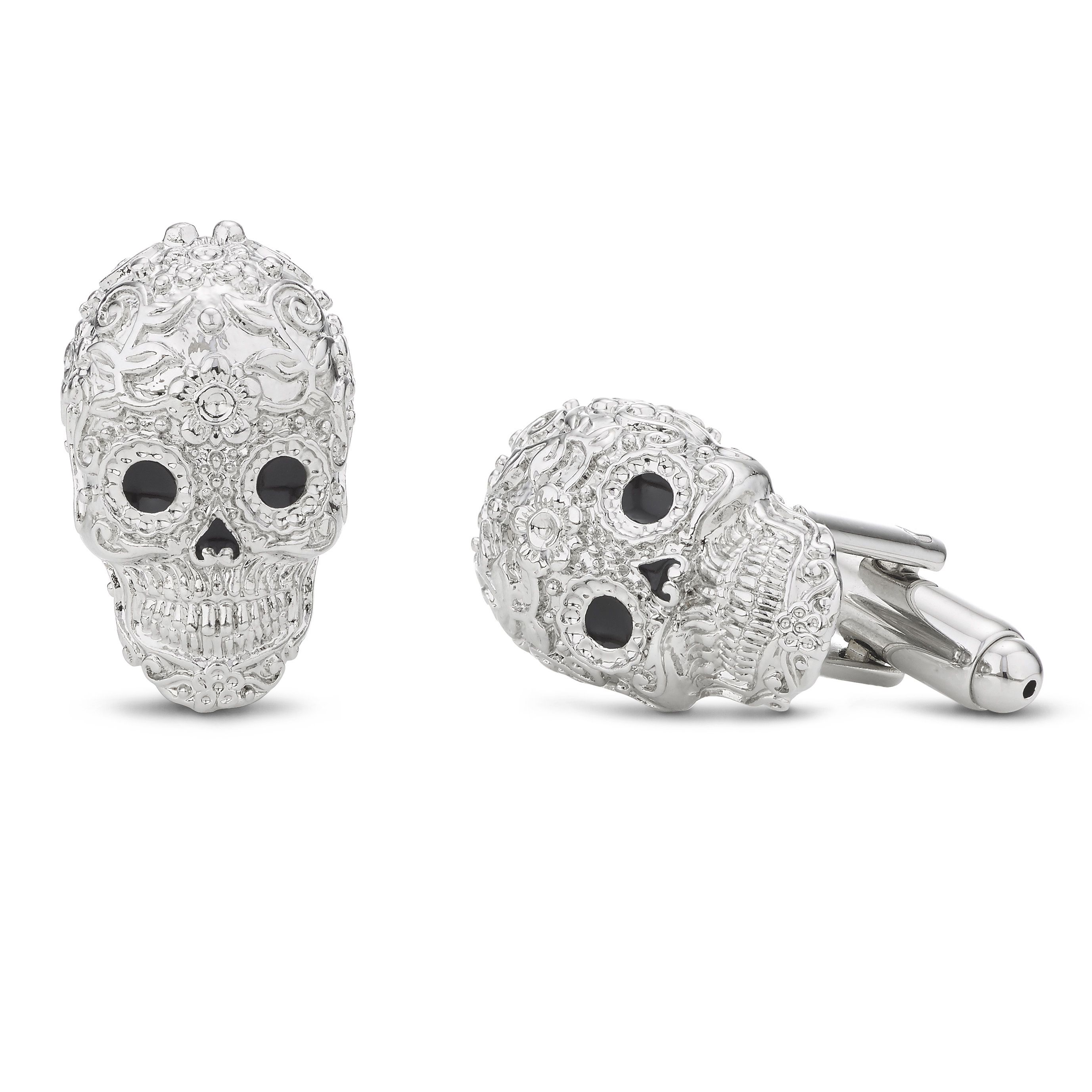 Buckley London Men's Calavera Sugar Skull Cufflinks