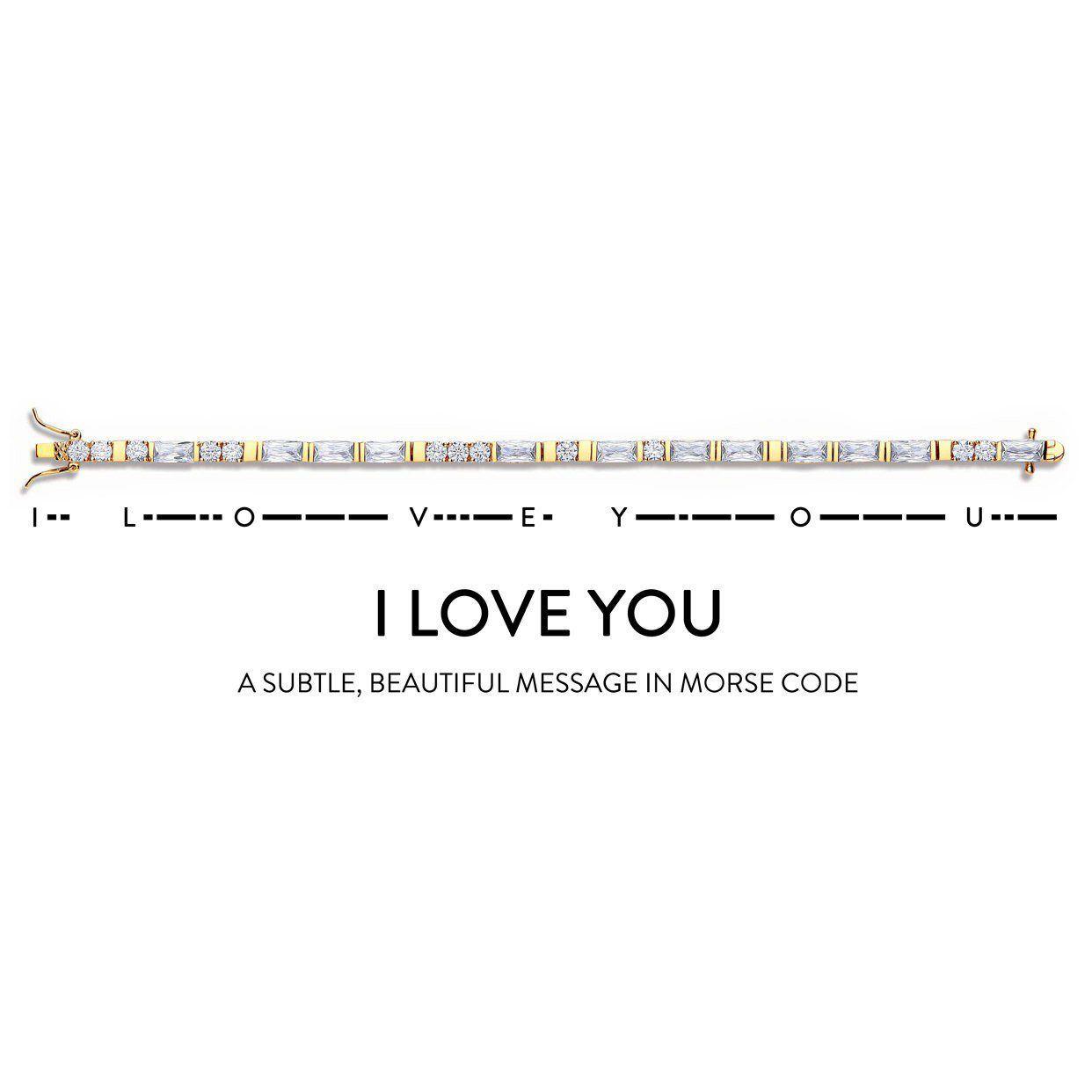 Buckley London I Love You' - Morse Code Bracelet (Gold)