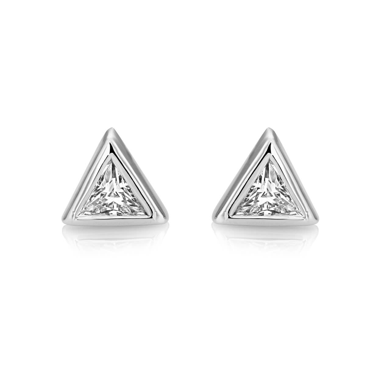 Buckley London Central Trillion Stud Earrings