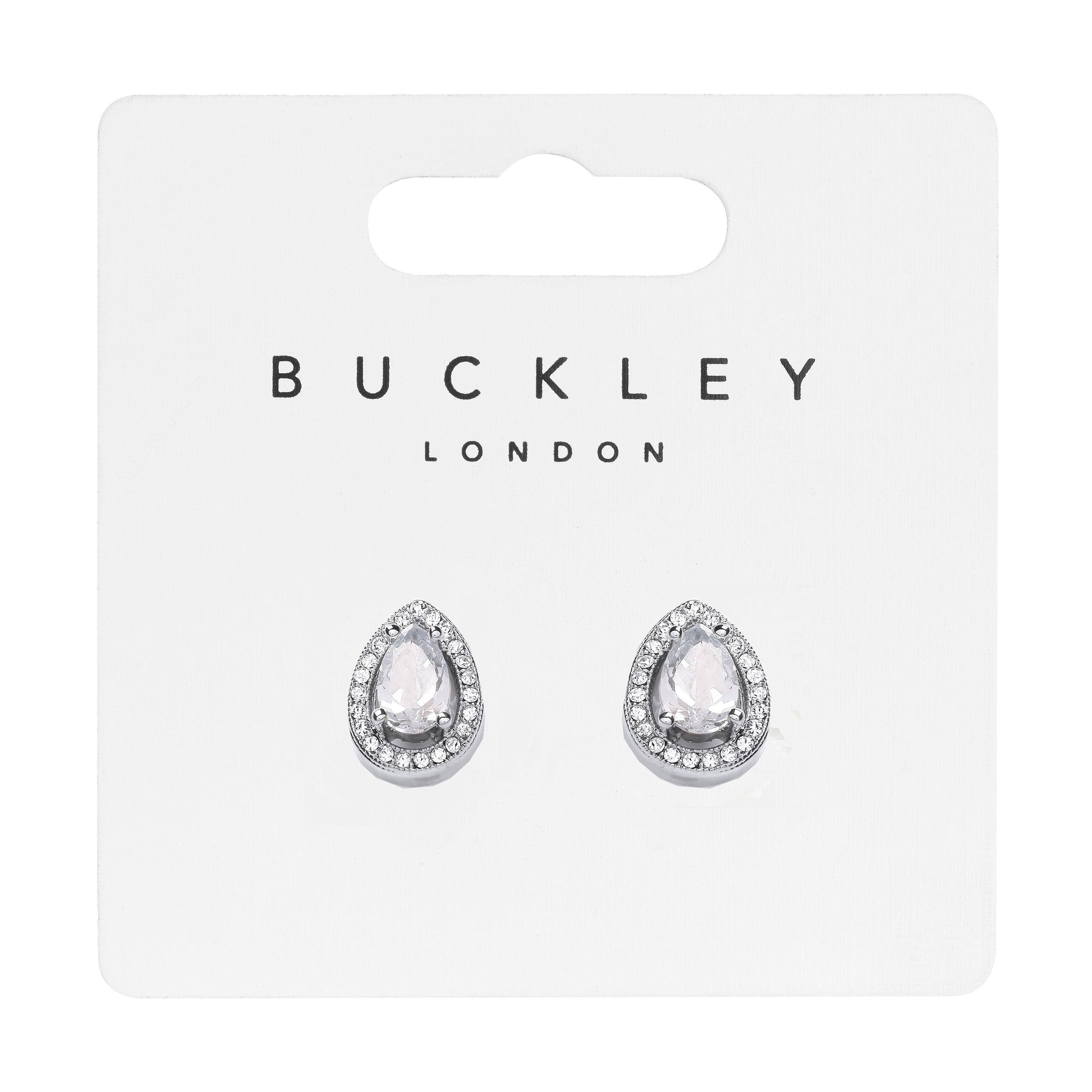 Buckley London Pear Shaped Stud Earrings