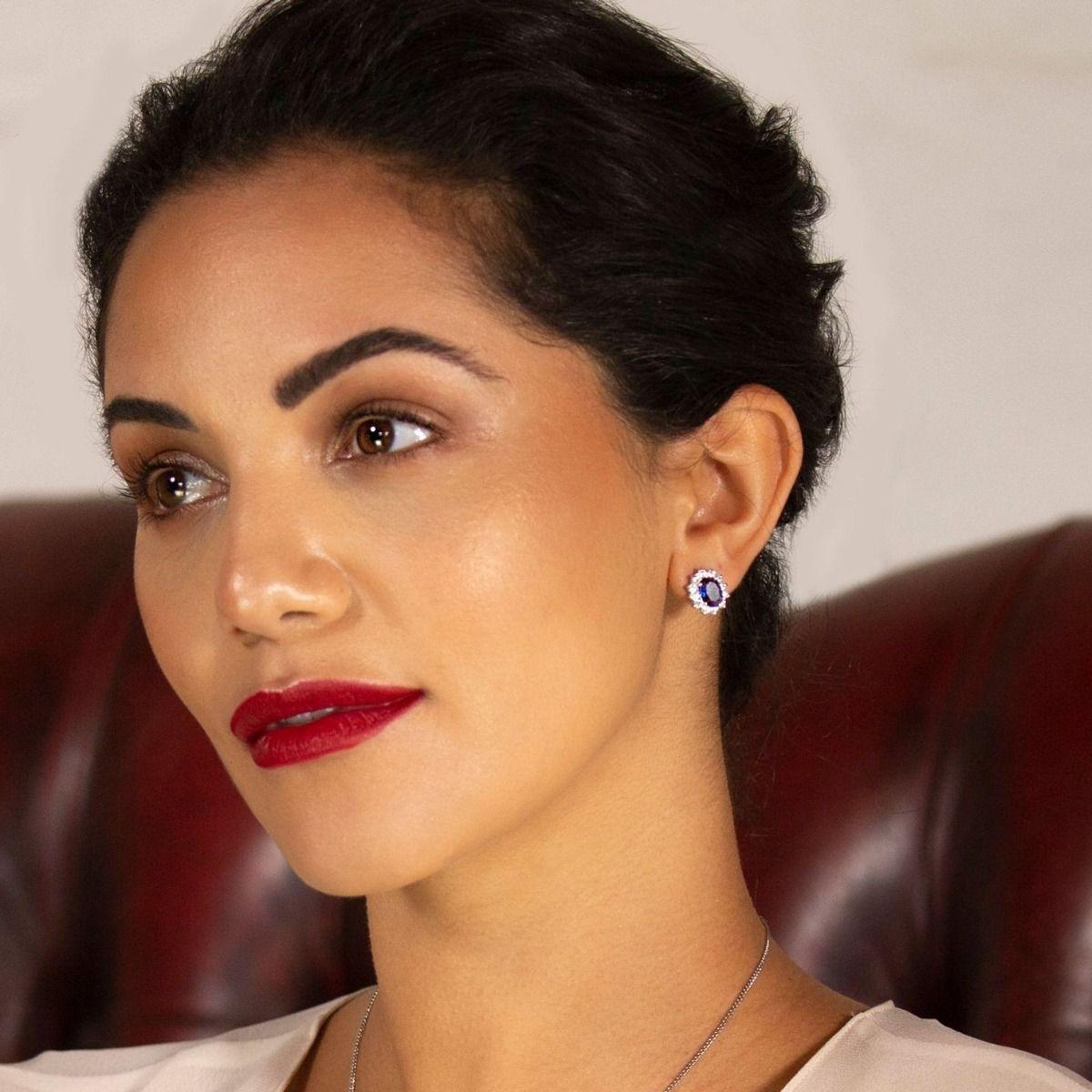 Buckley London Catherine Royal Blue Earrings