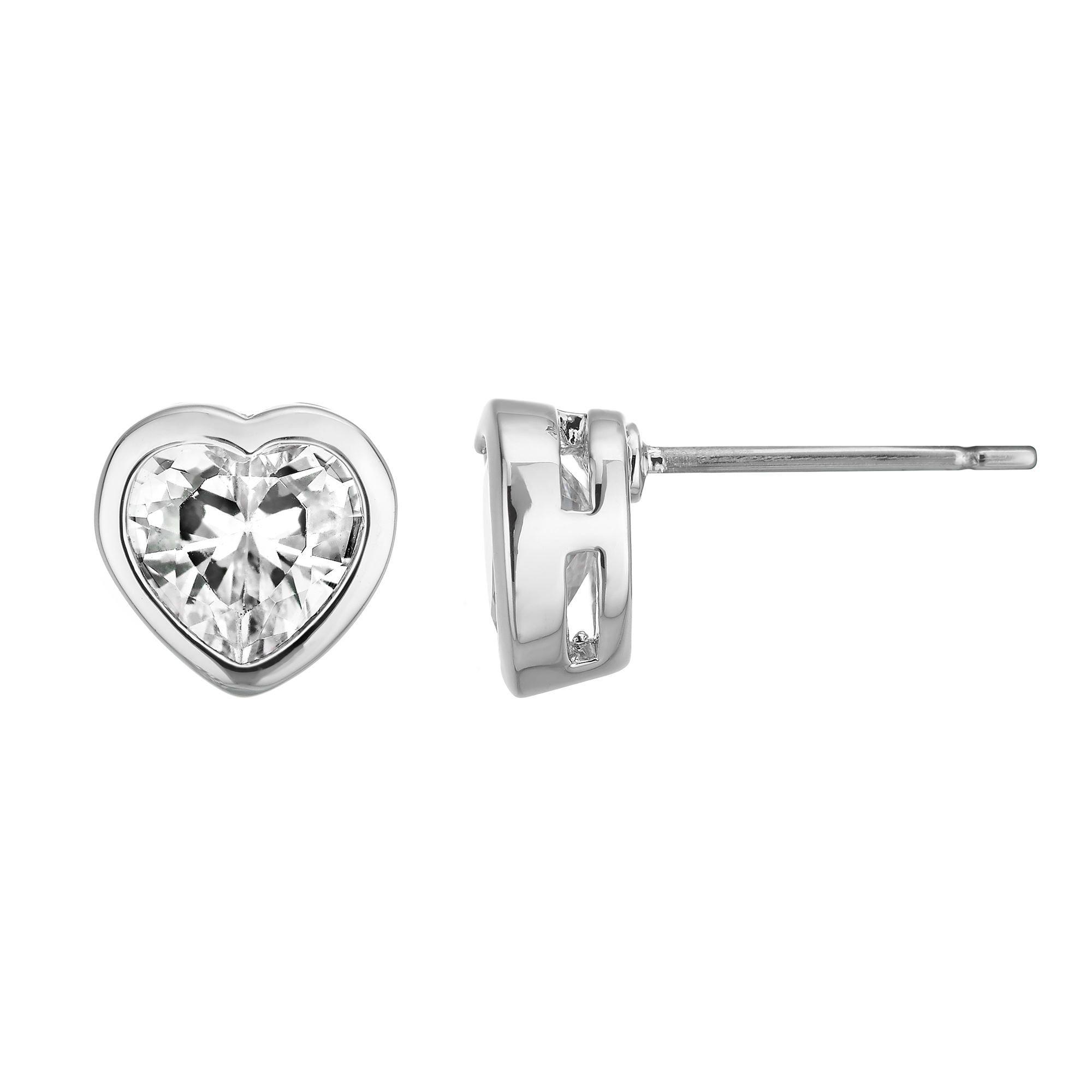 Buckely London Lottie Heart Stud Earrings