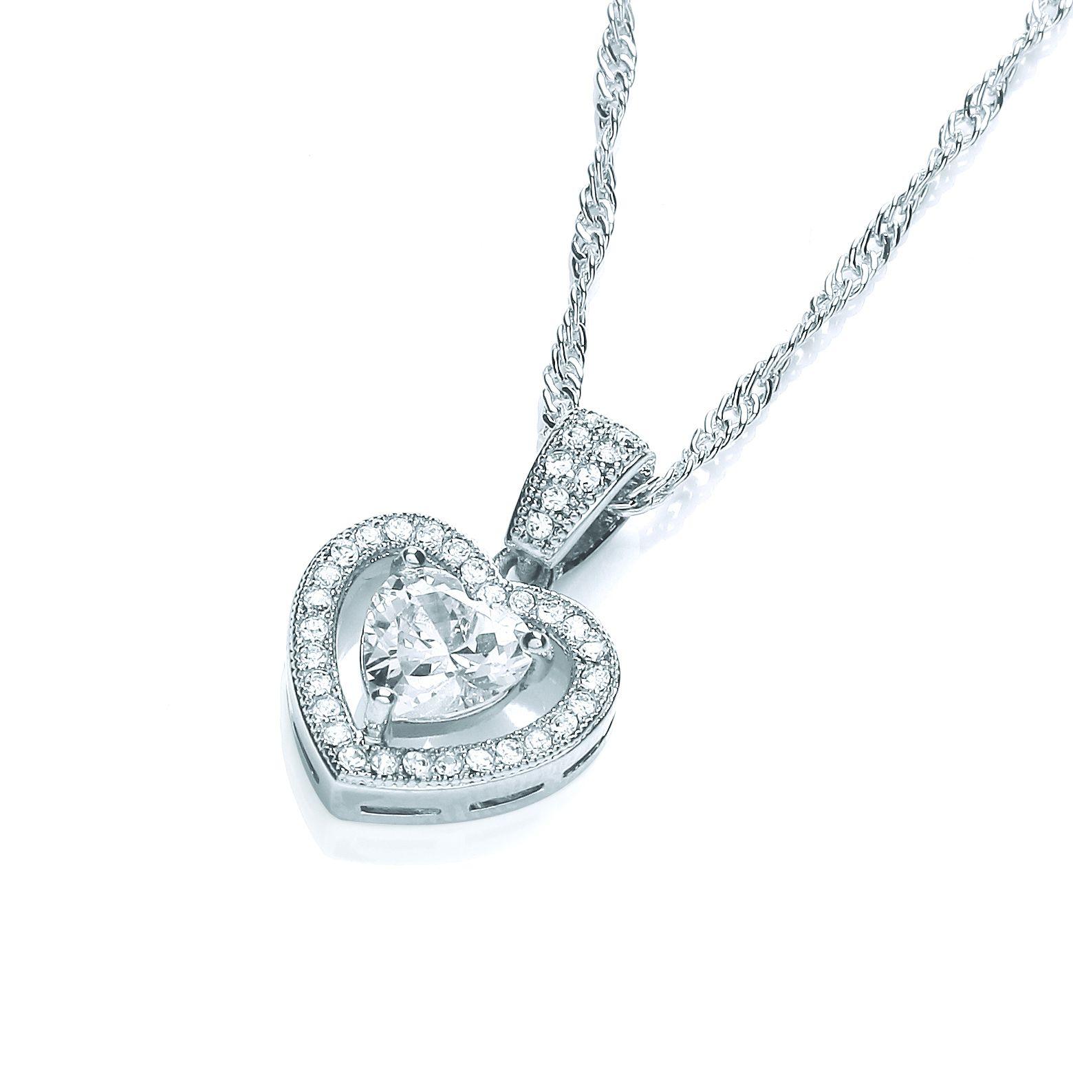 Buckley London Crystal Heart Pendant