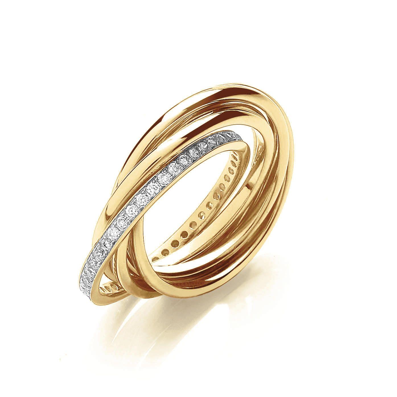 Gold Russian Trio Ring