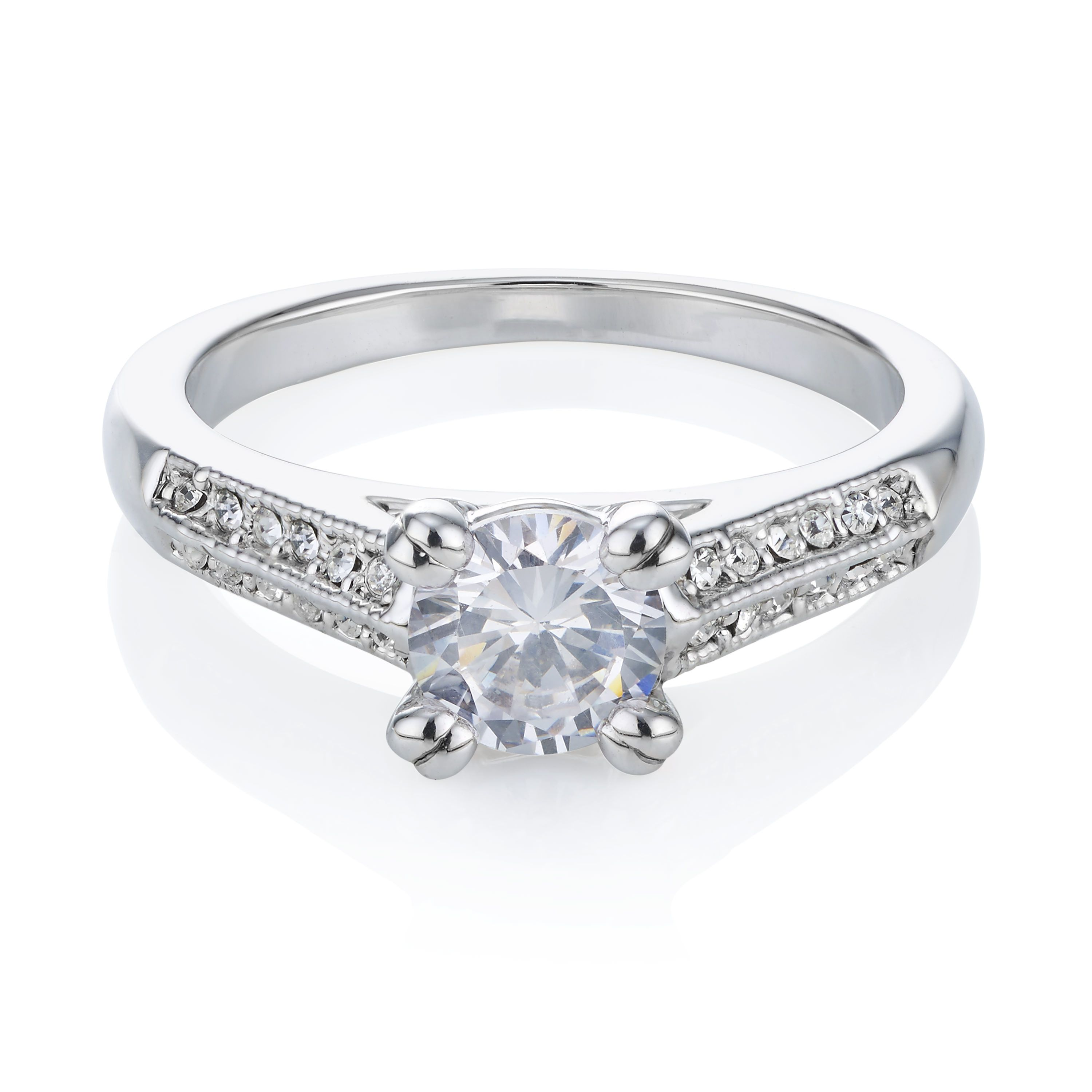 Buckley London Classic Solitaire Pavé Ring
