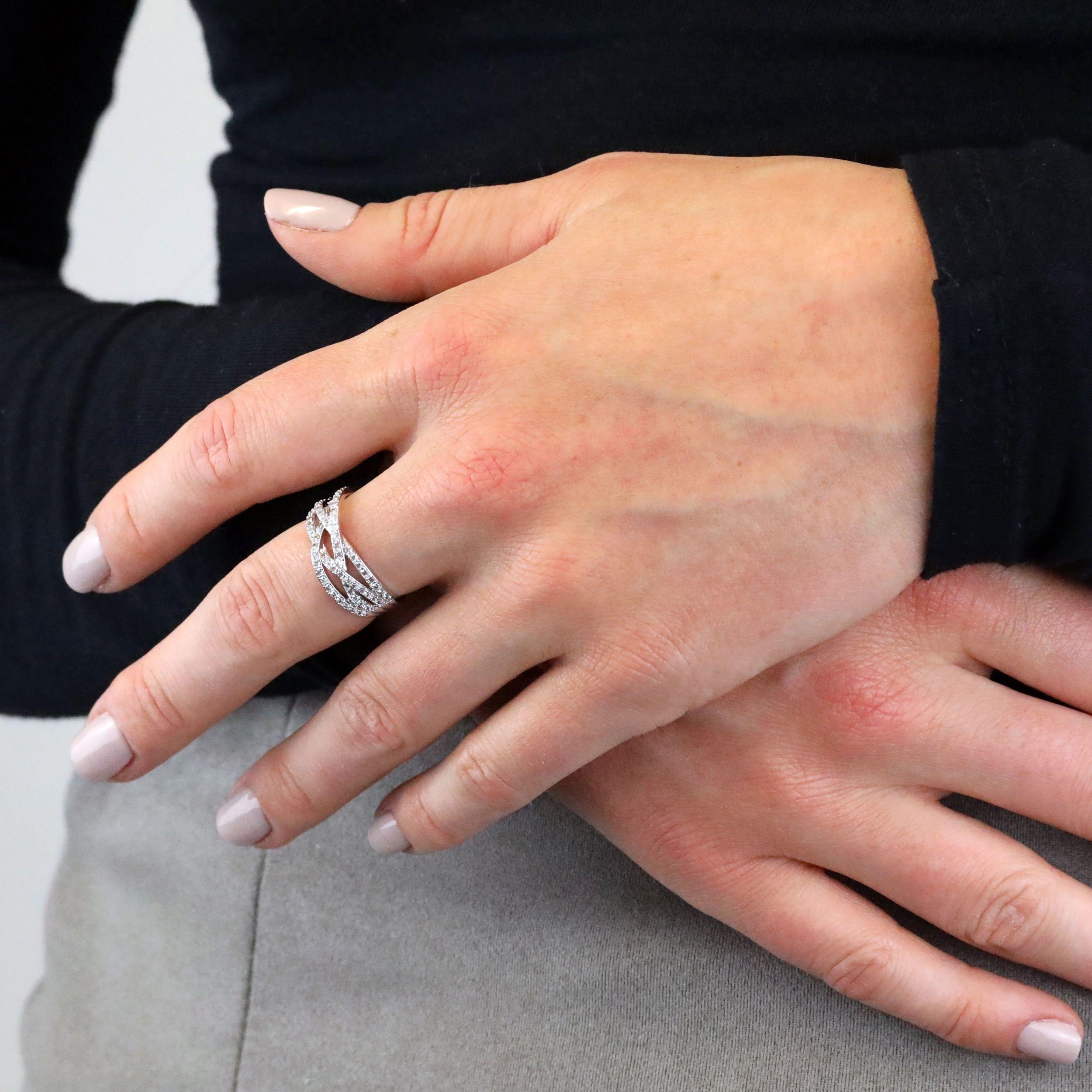 Buckley London Silver Lattice Ring