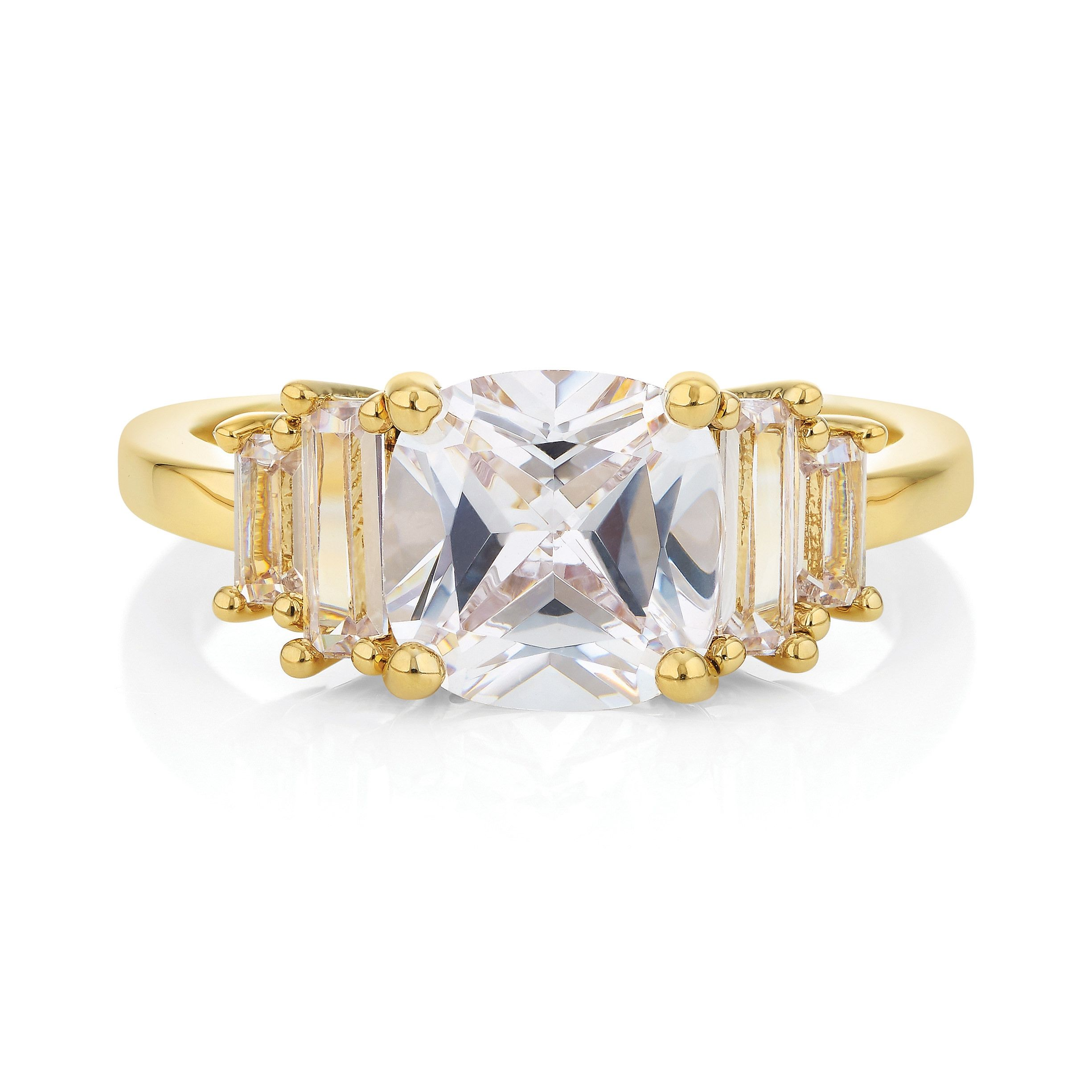 Buckley London Staggered Baguette Ring