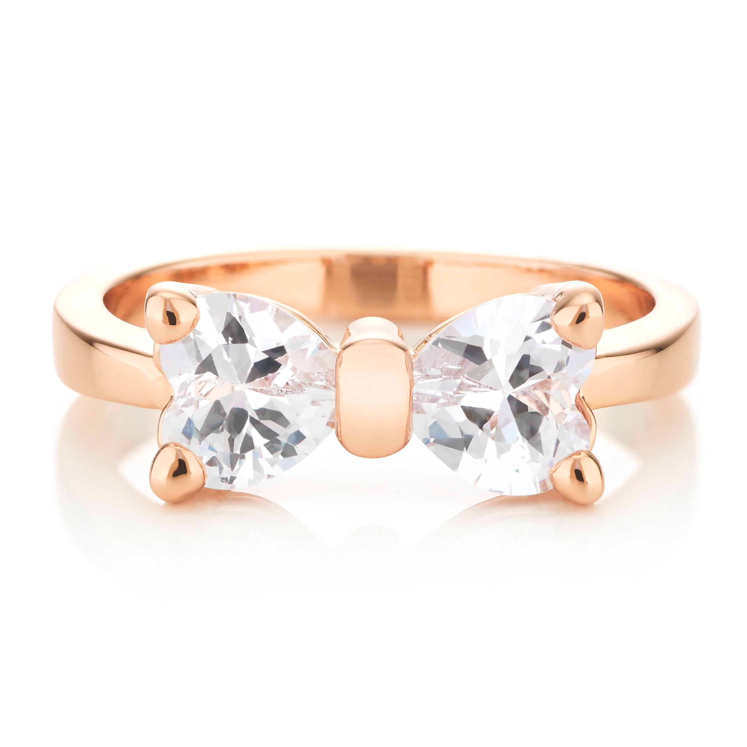 Buckley London Rose Gold Bow Ring