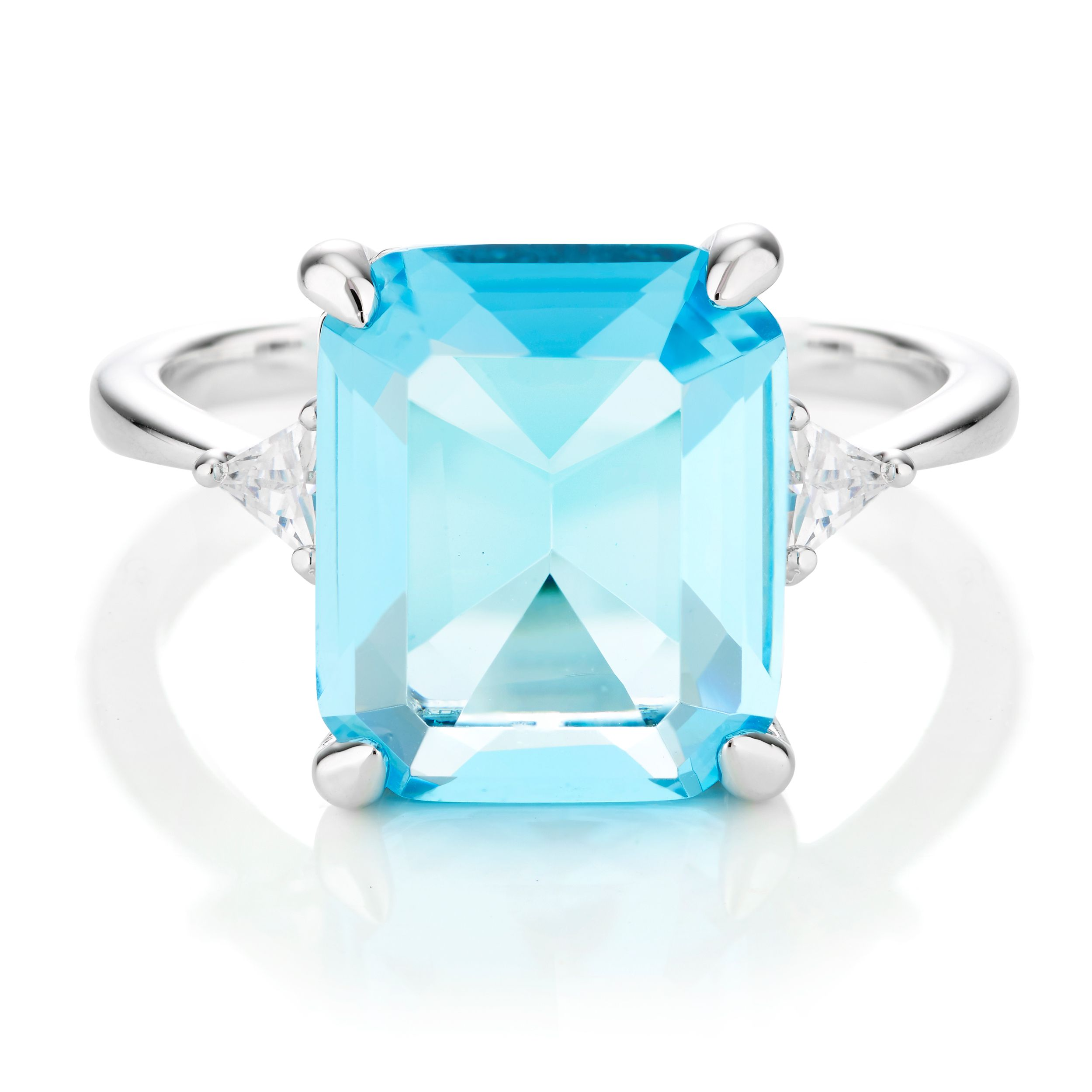 Buckley London Meghan Aquamarine Ring