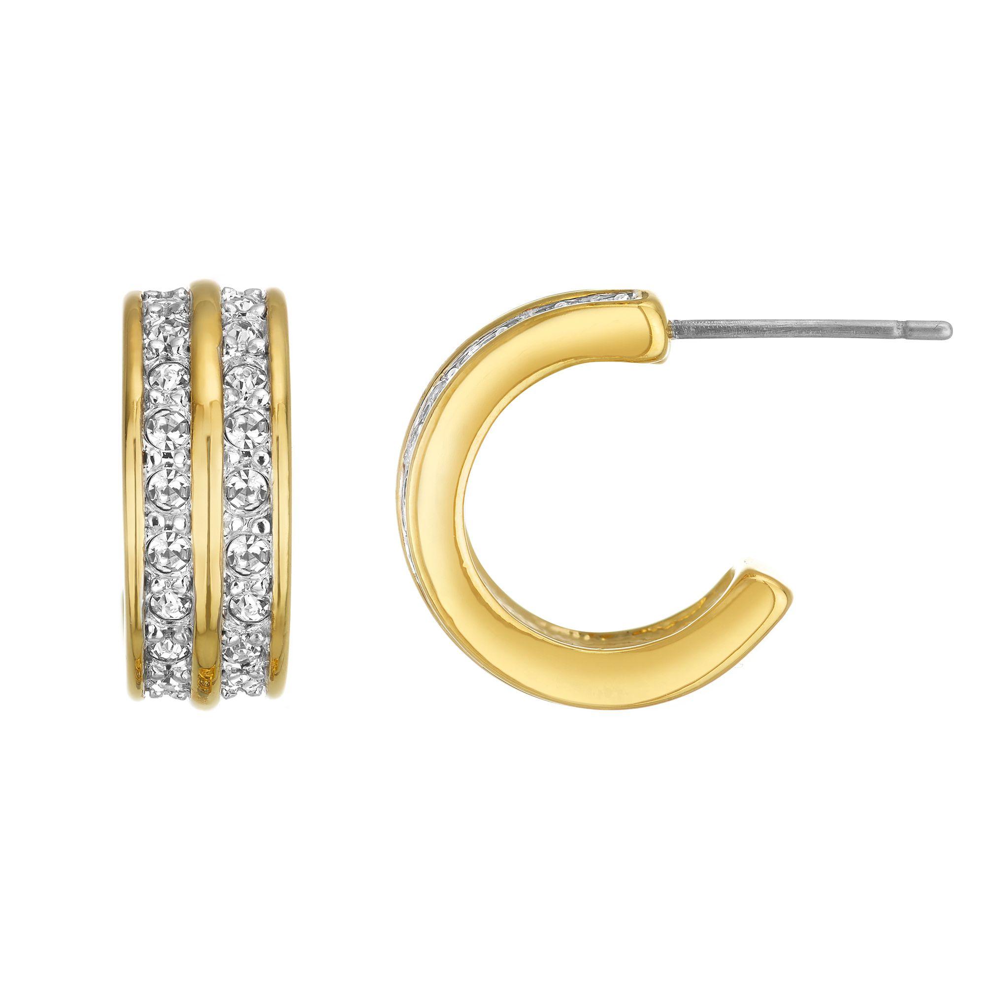 Buckley London Classic Gold Hoop Earrings