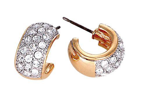 Buckley London Two Tone Gold Hoop Earrings