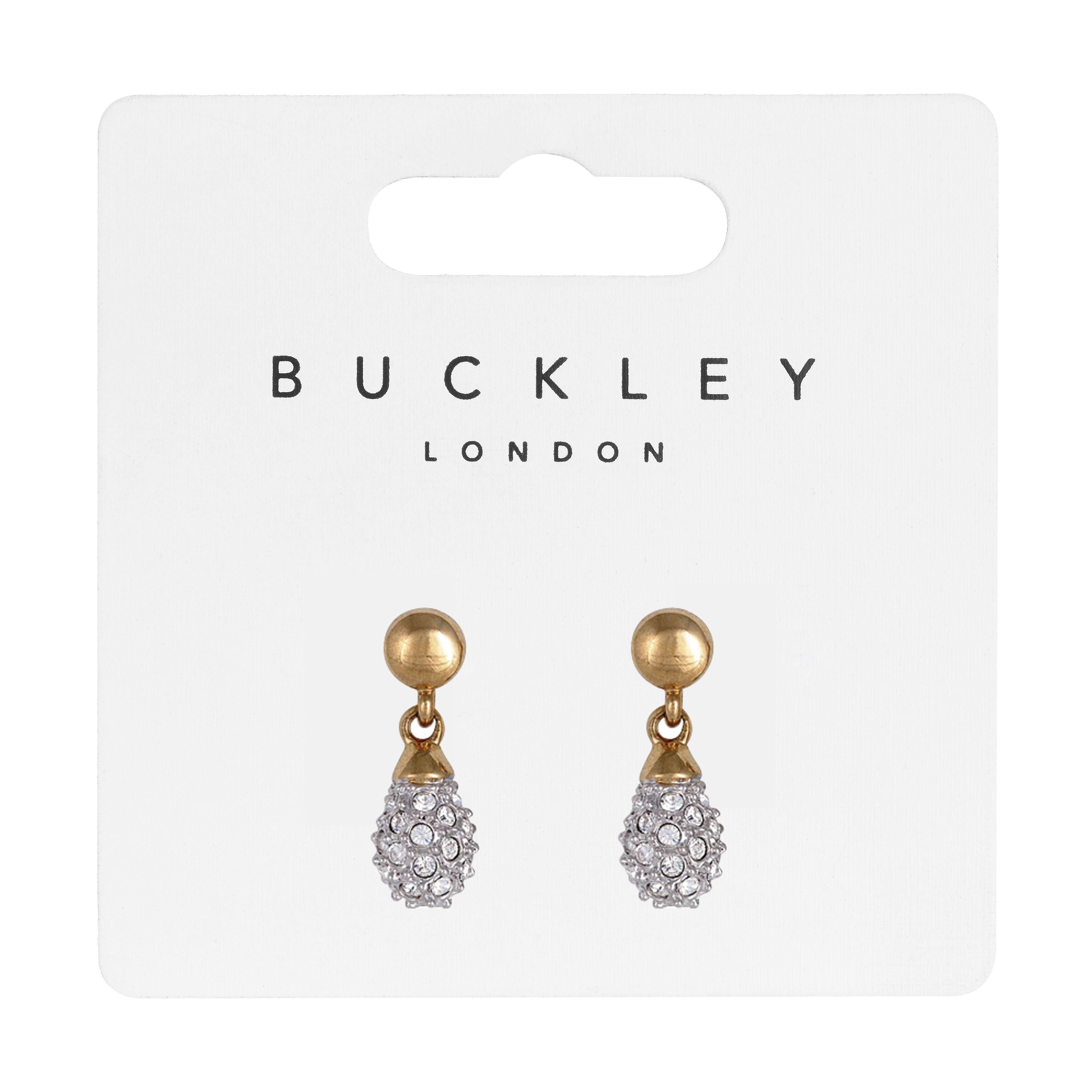 Buckley London Two Tone Pavé Drop Earrings
