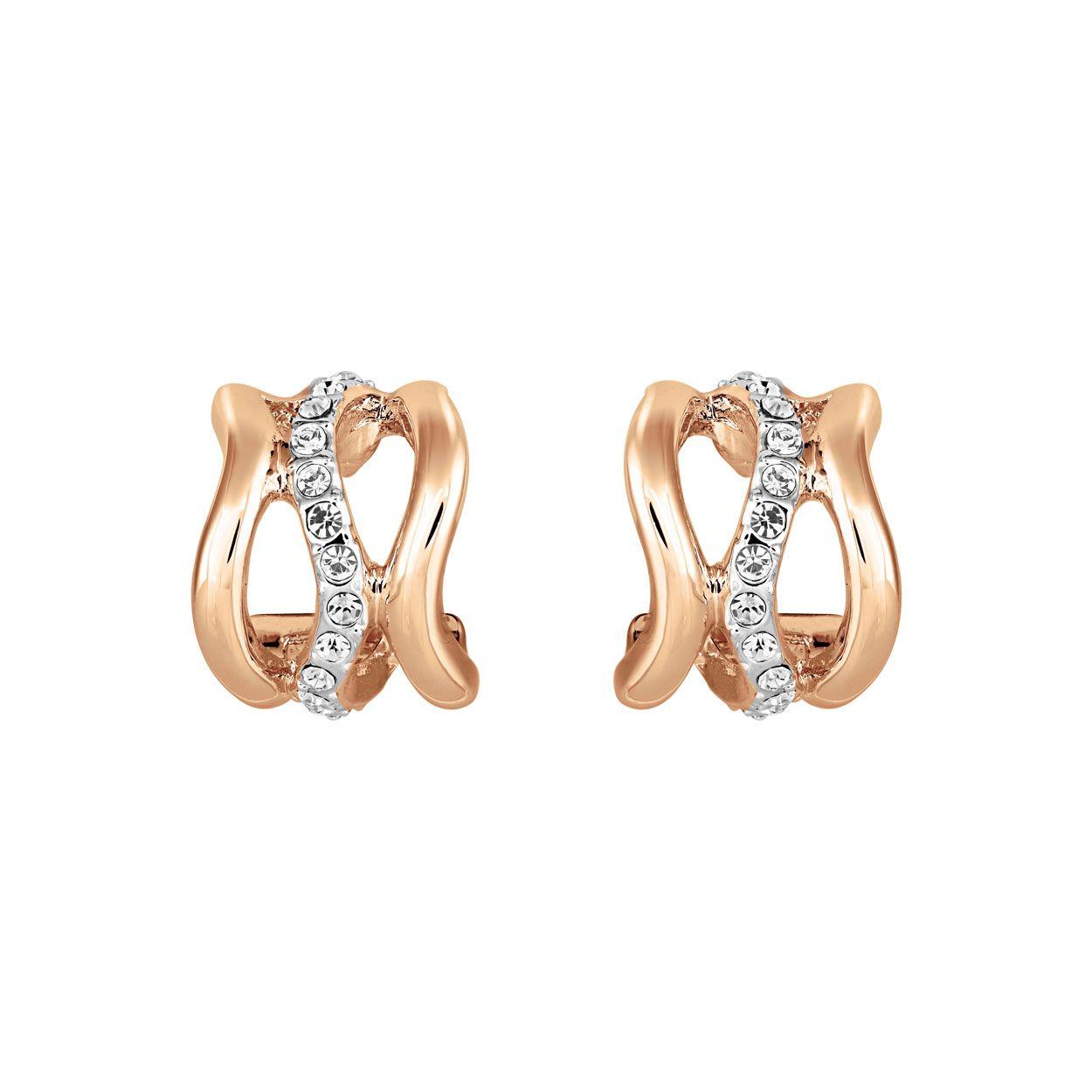 Buckley London Bayswater Hoop Earrings - Rose Gold