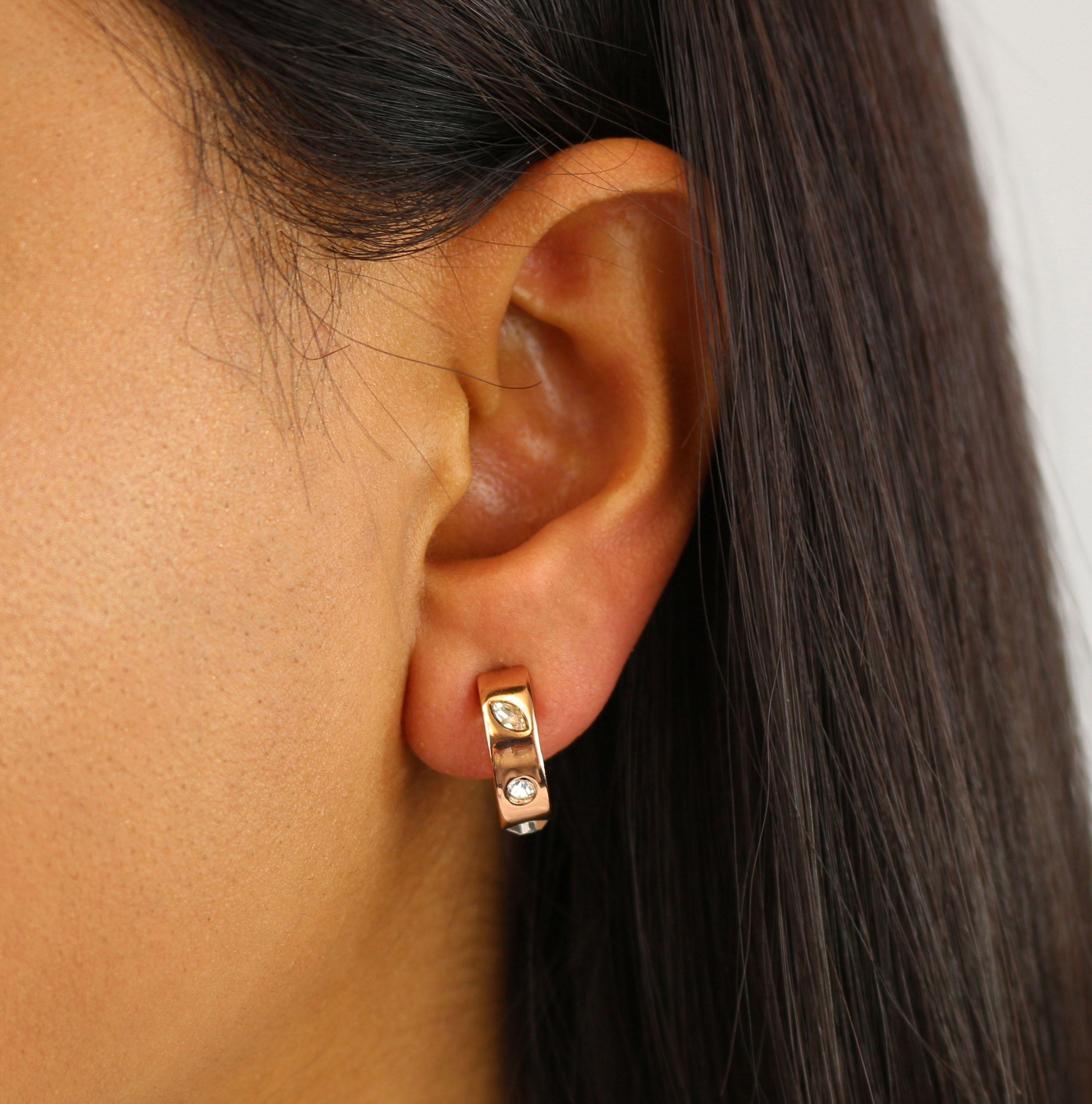 Buckley London Knightley Half Hoop Earrings