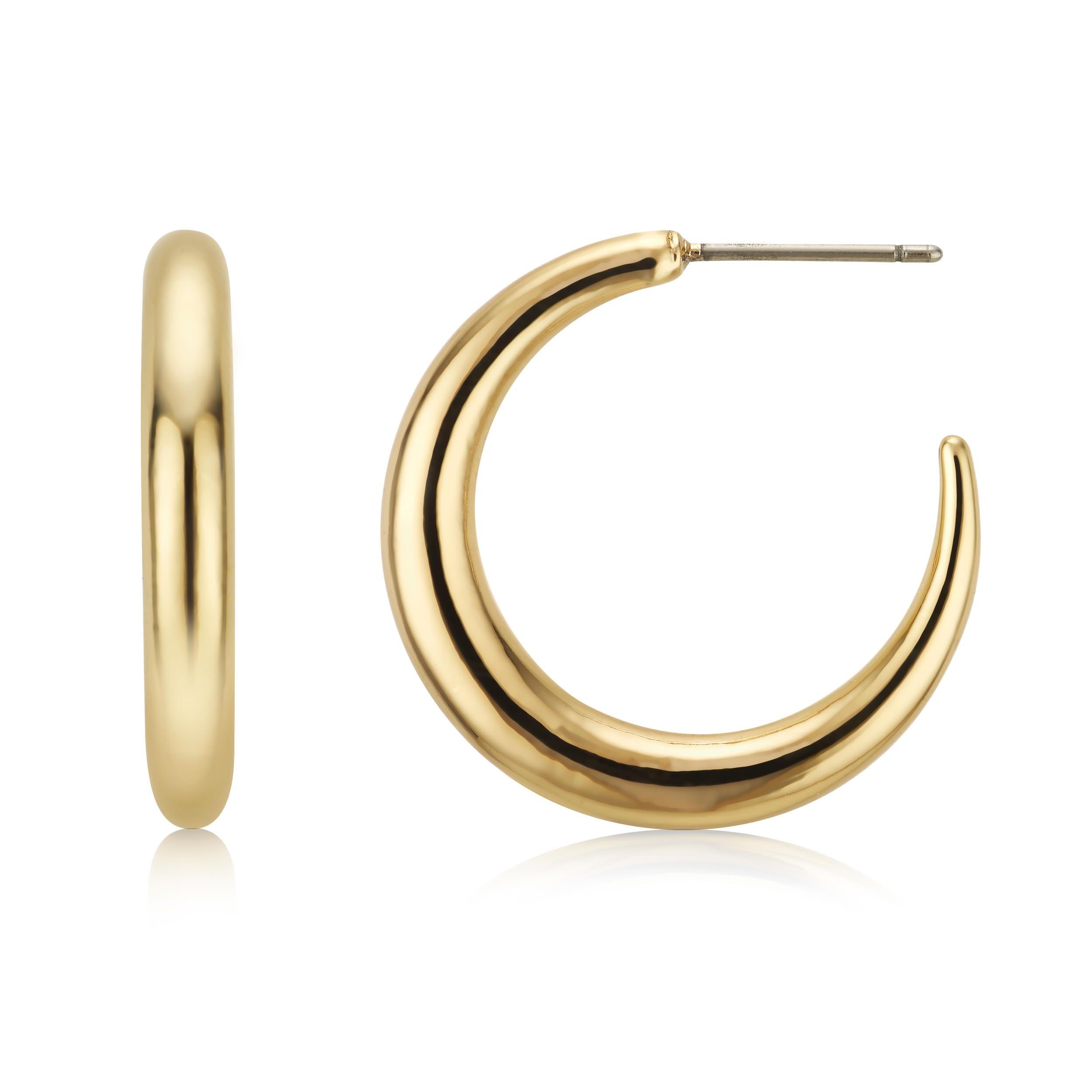 Buckley London Goulding Large Hoop Earrings - Gold