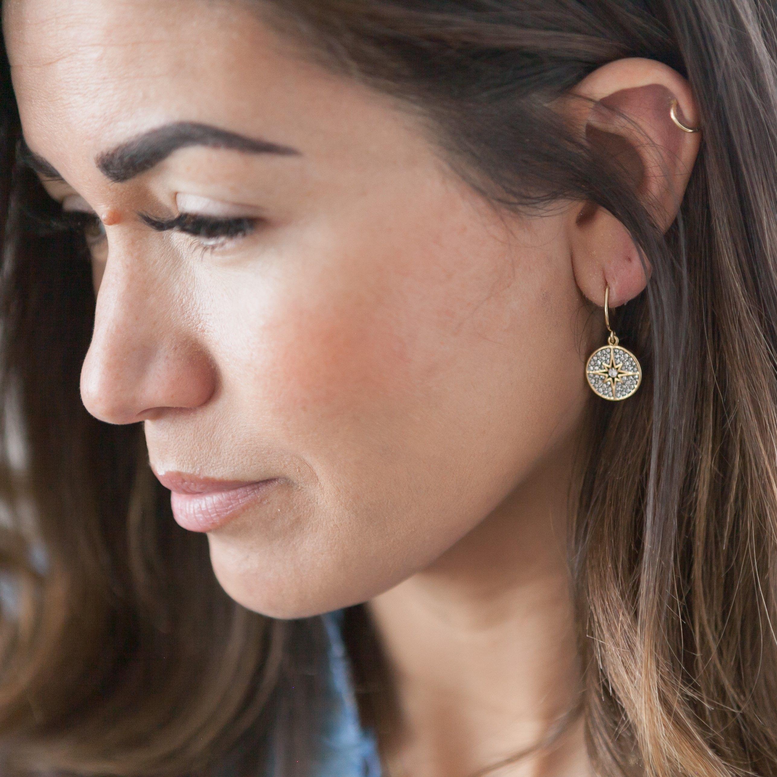 Buckley London Polaris Star Drop Earrings