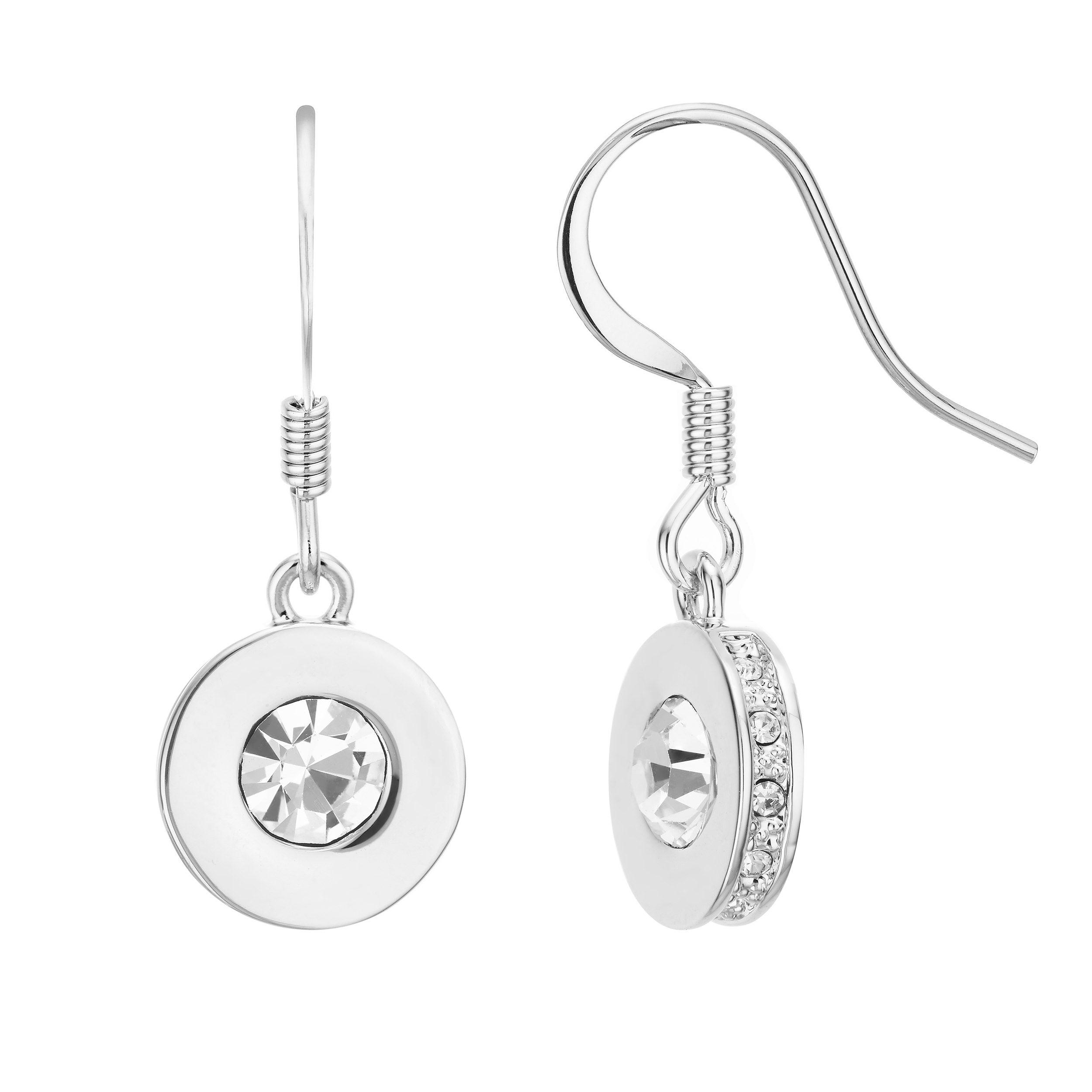 Buckly London Knightley Drop Earrings - Silver