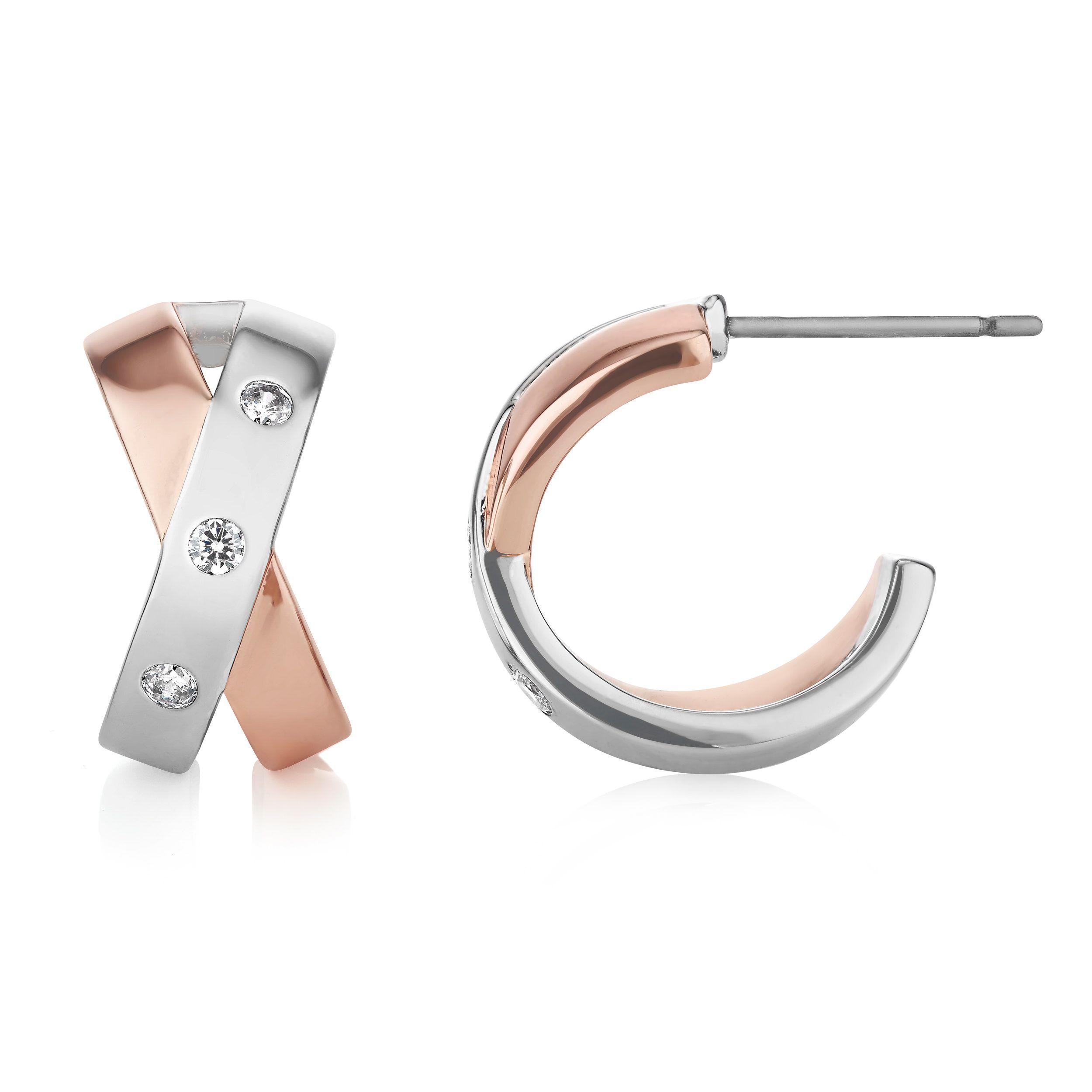 Buckley London Rosa Half Hoop Earrings