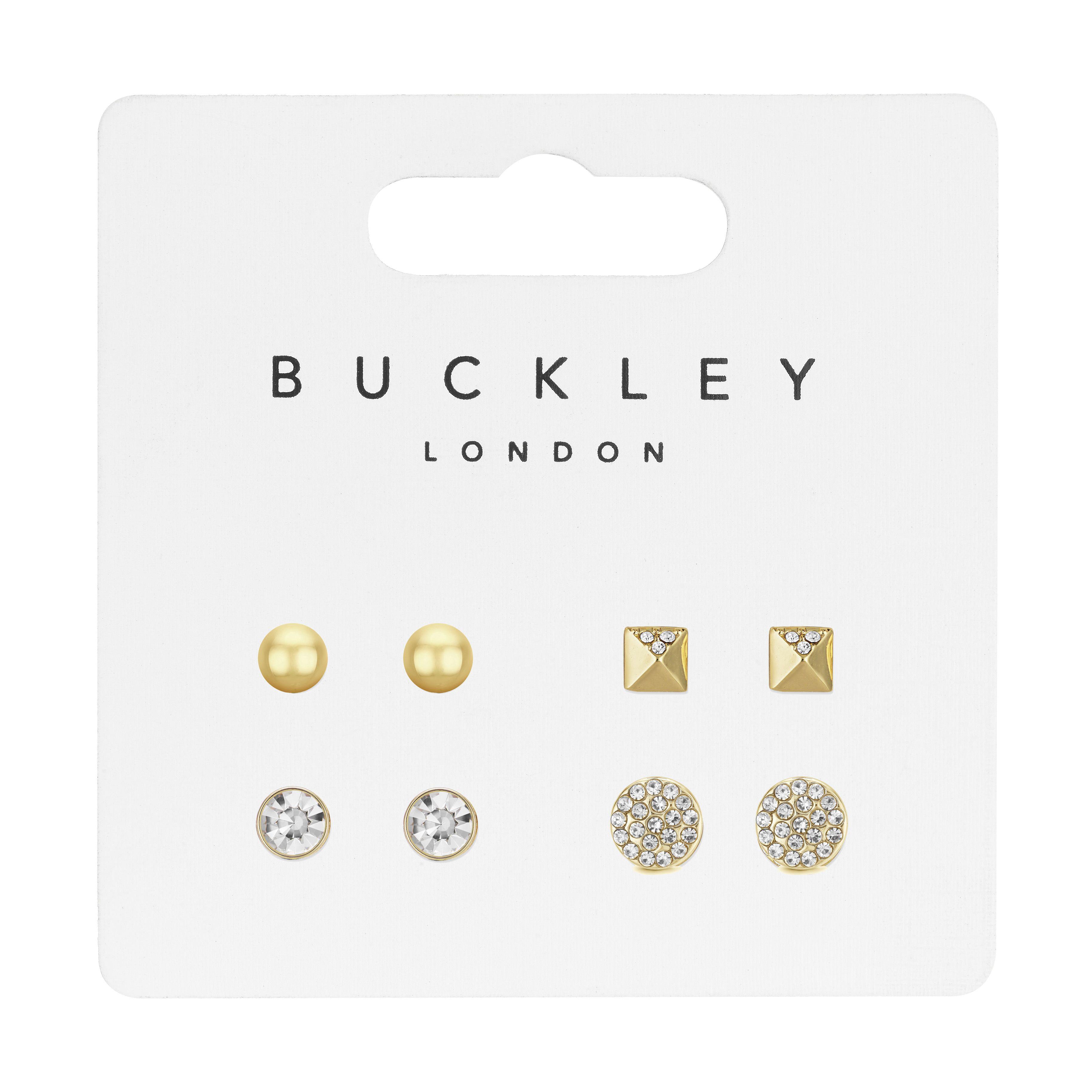 Gold Stud Earring Set