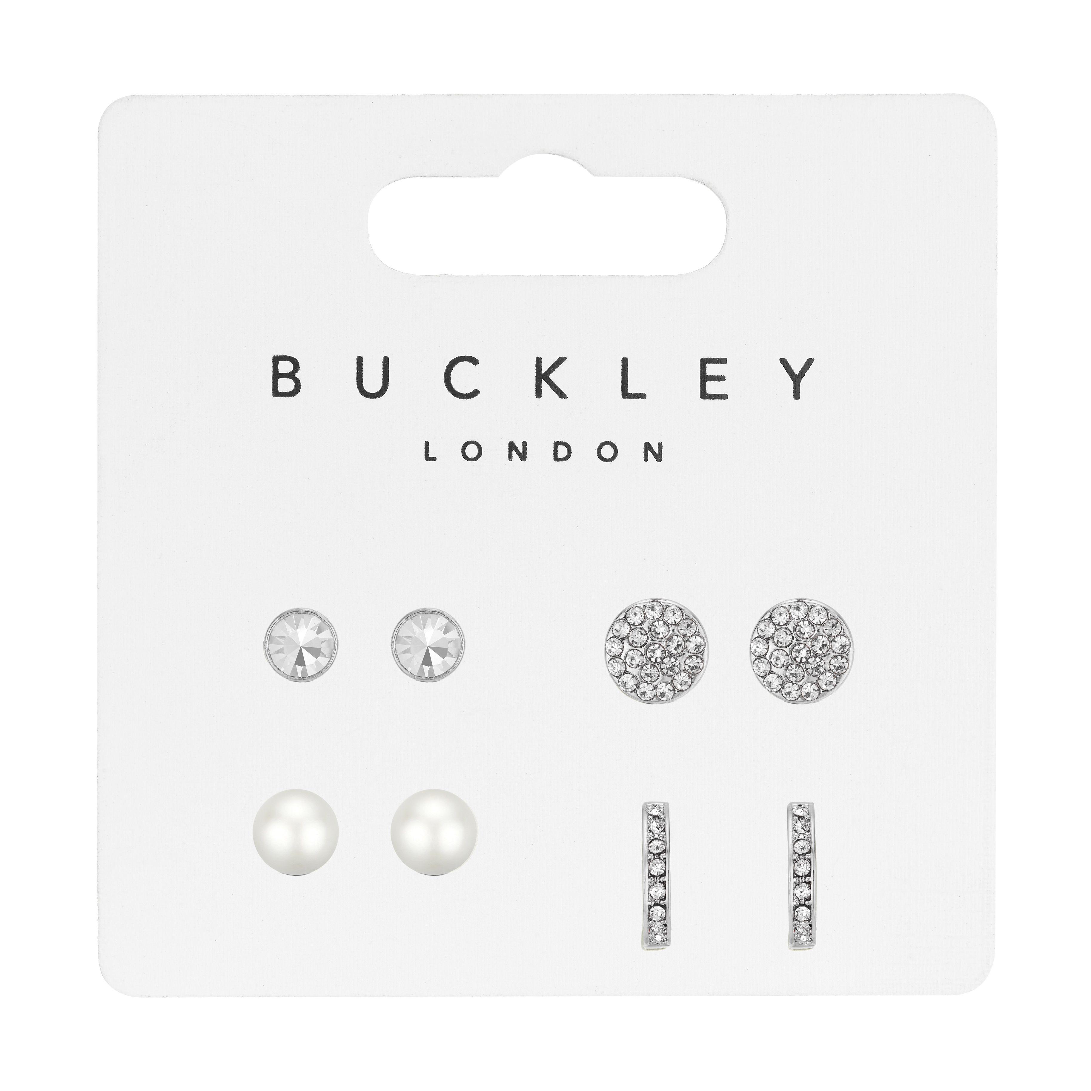 Four Piece Silver Earrings Set