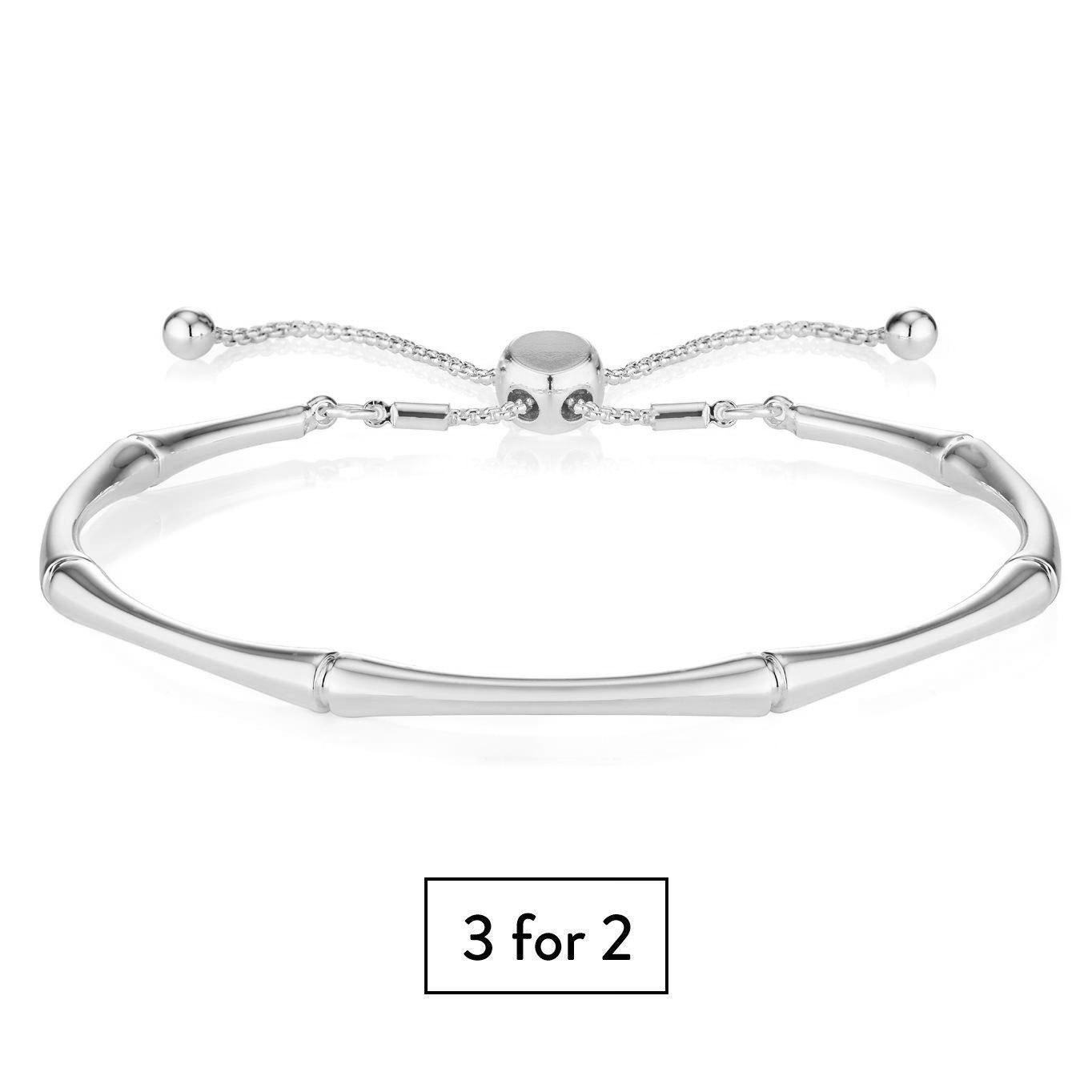 Buckley London Bamboo Bracelet - Silver