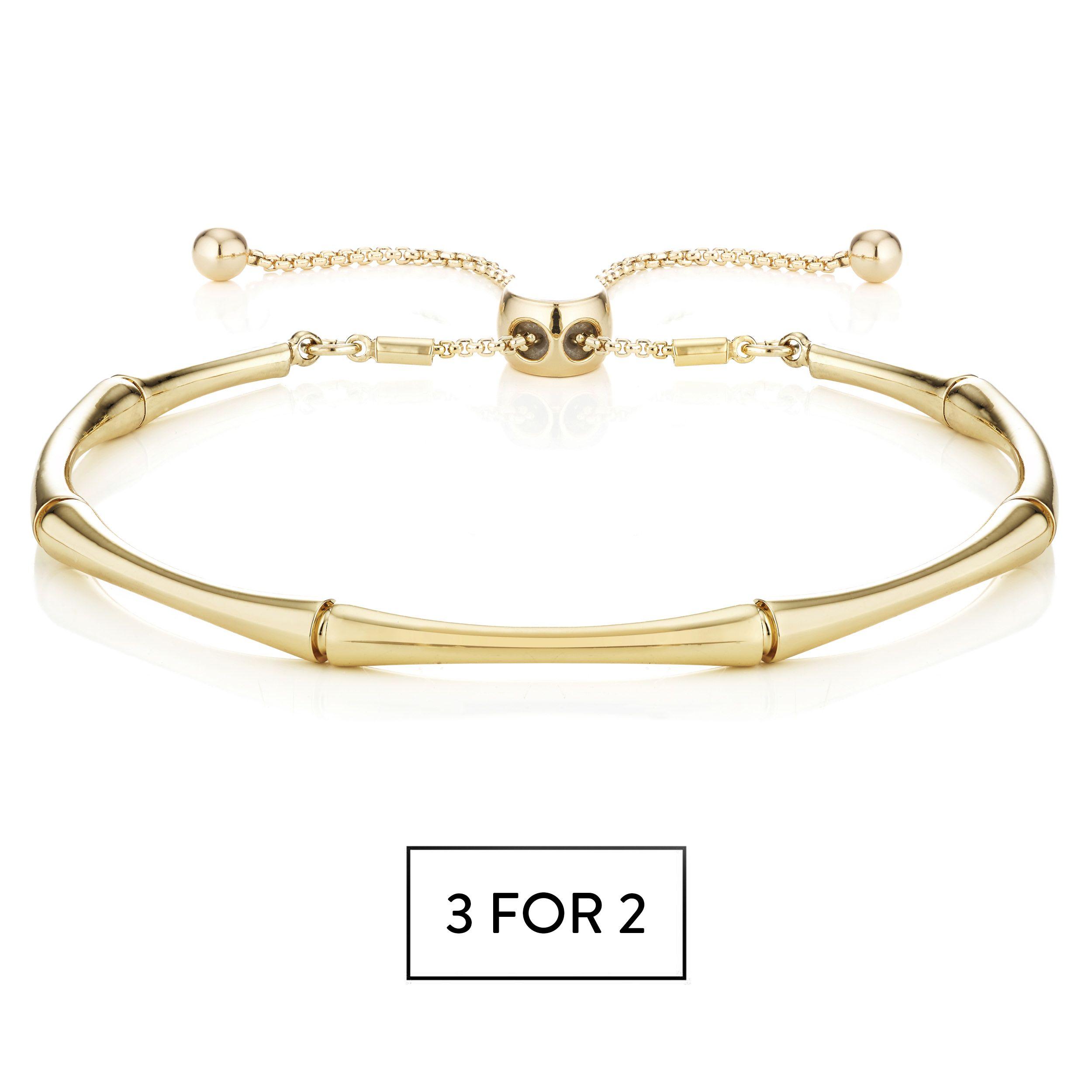 Buckley London Bamboo Bracelet - Gold