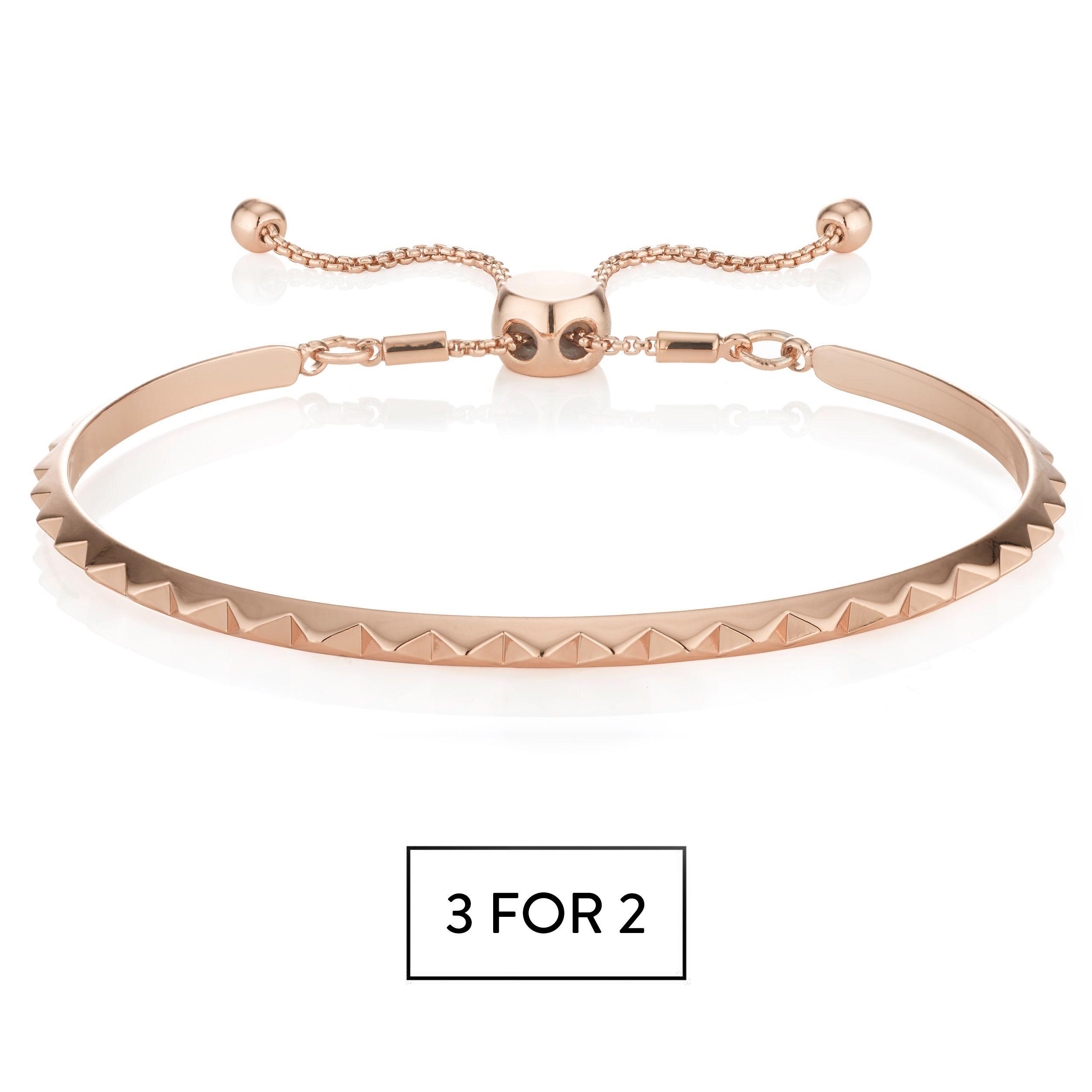 Buckley London Pyramid Bracelet - Rose Gold