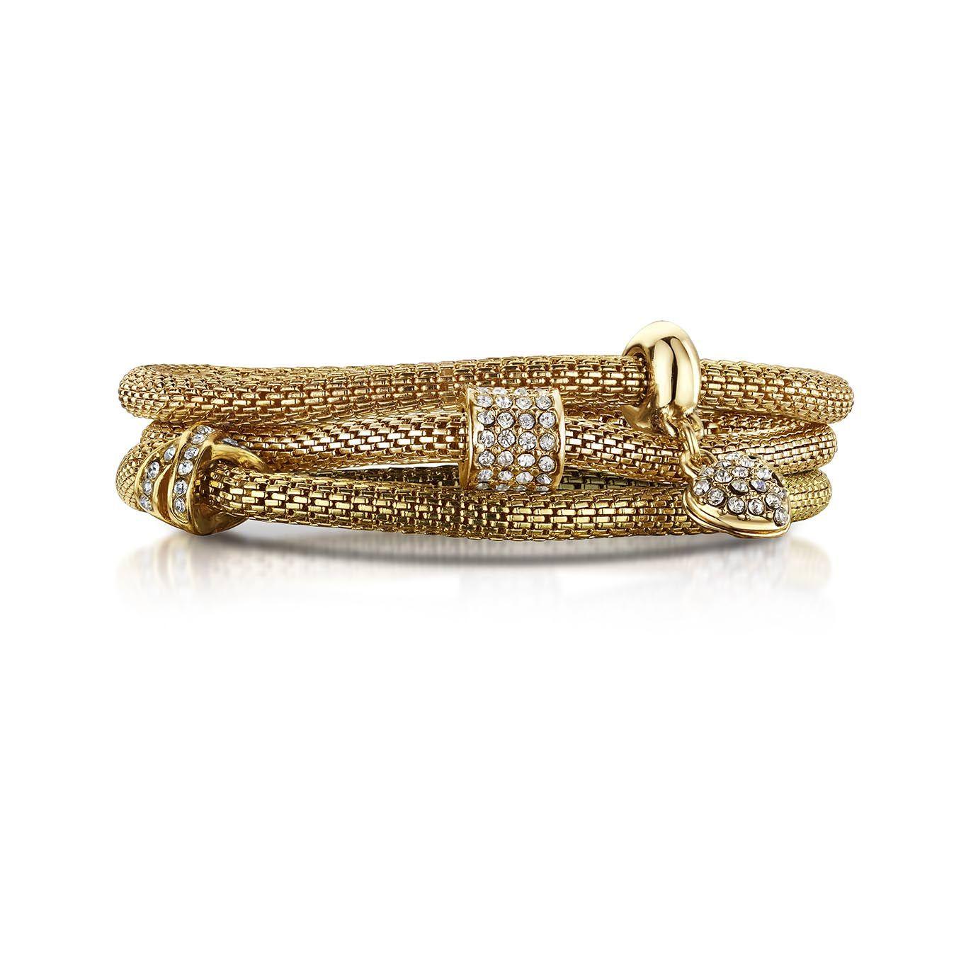 Buckley London XO♥ Mesh Bracelets – Gold