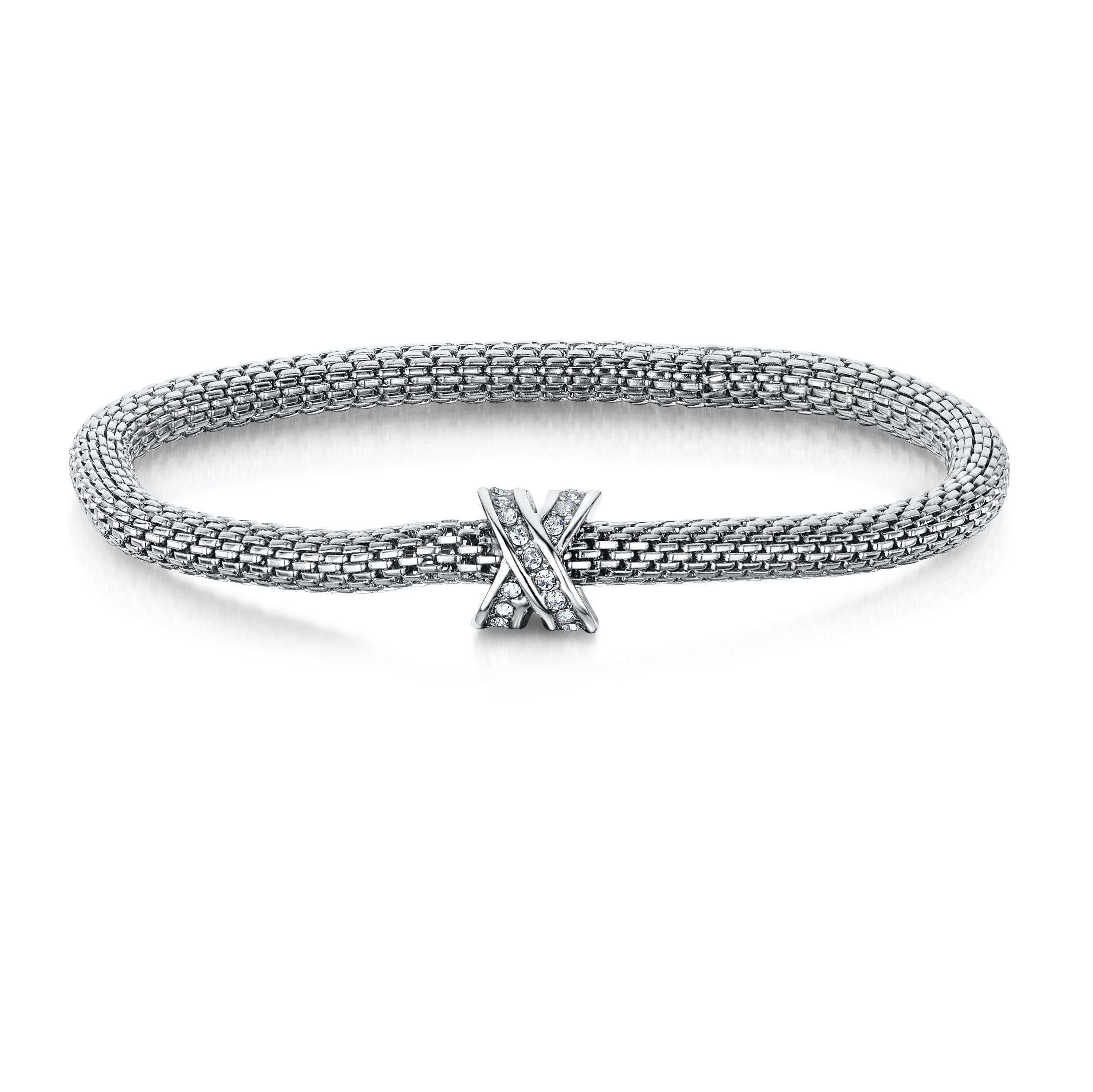 Buckley London XO♥ Mesh Bracelets – Rhodium