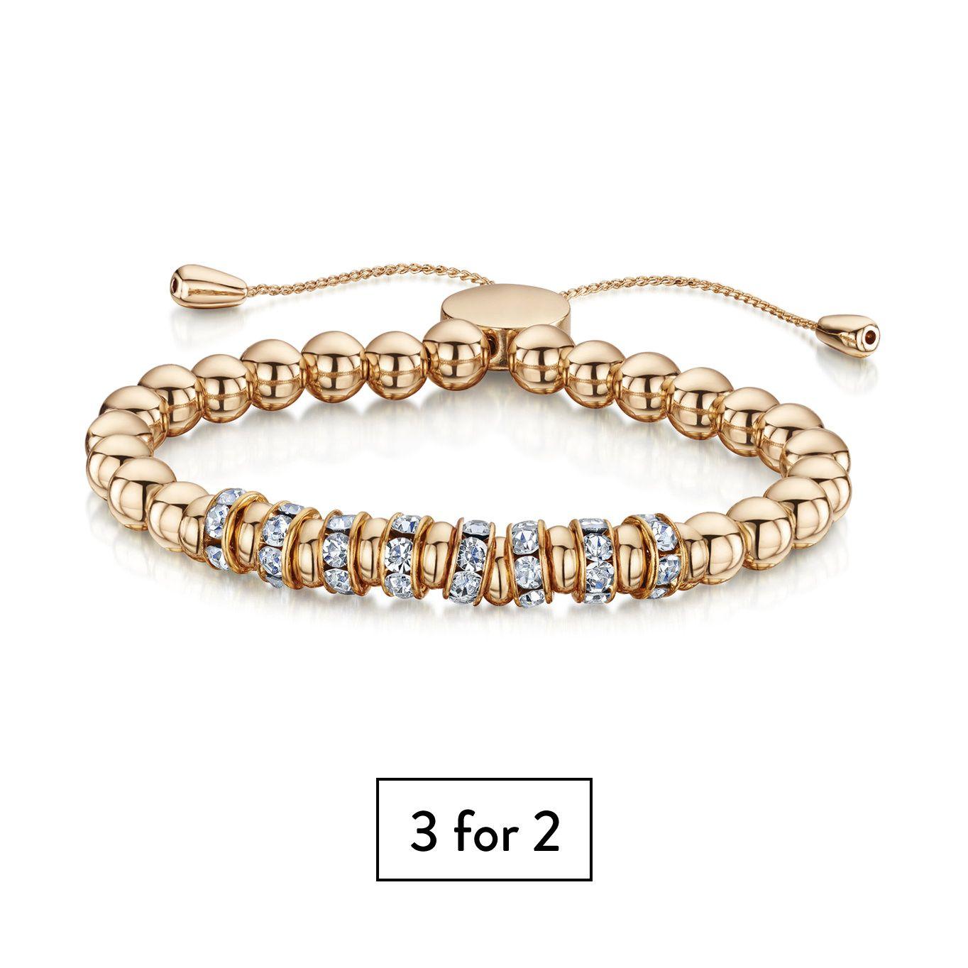 Buckley London Simplicity Bracelet - Rose Gold (Cluster Design)