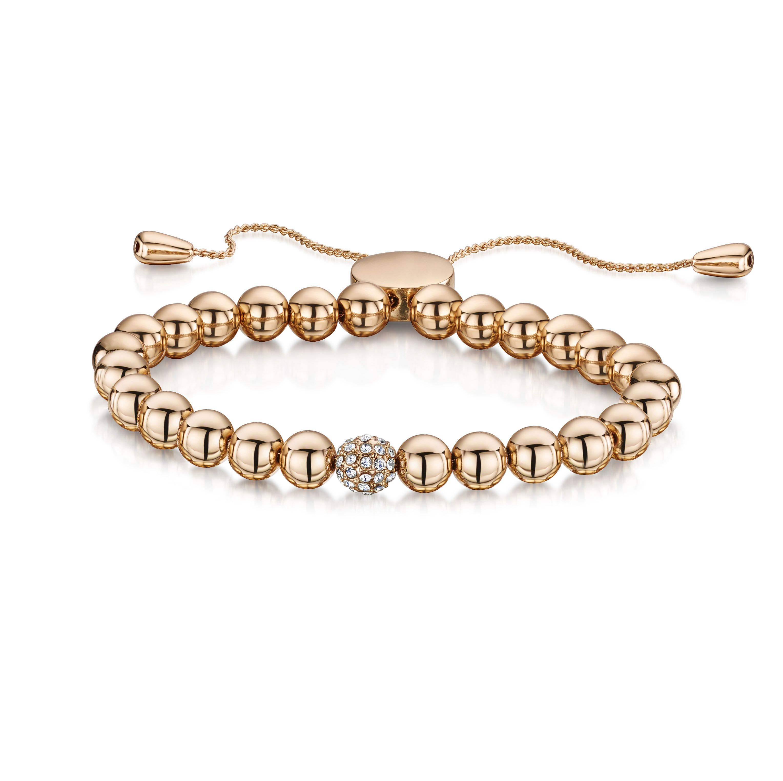 Buckley London Simplicity Bracelet - Rose Gold (Snowball Design)