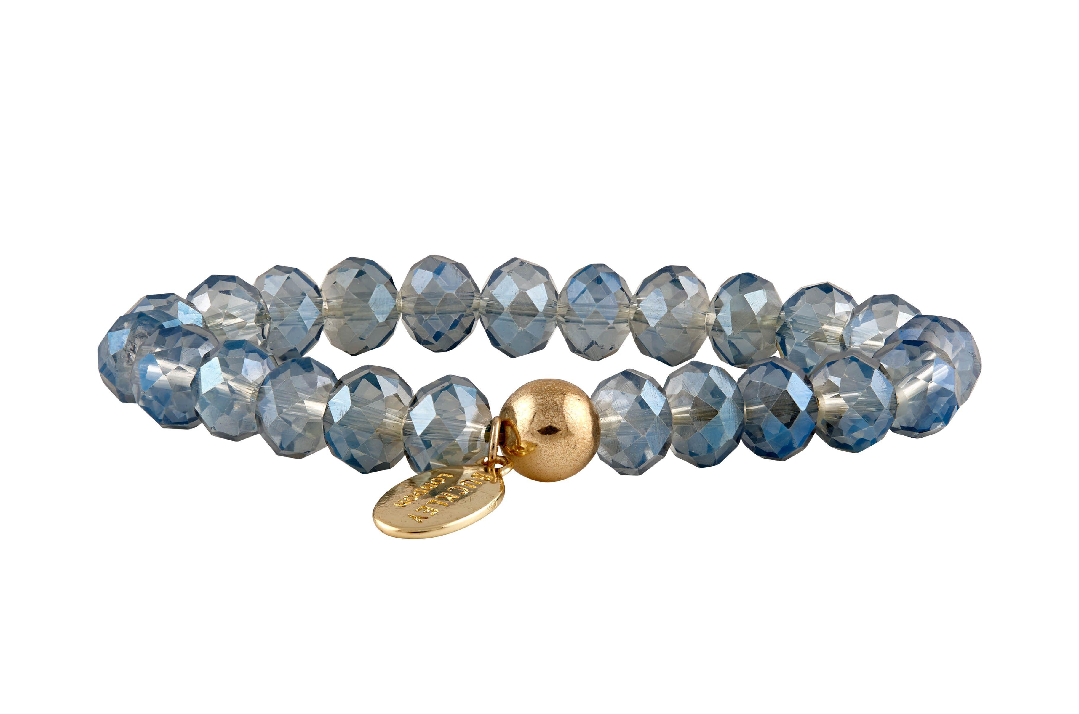 Carousel Sparkle Bead Bracelets -Grey