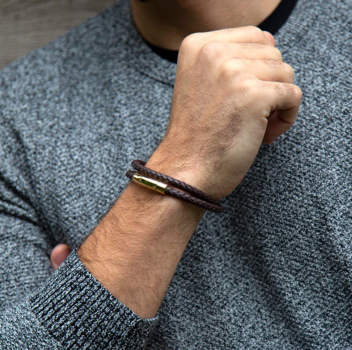 Buckley London For Him Leather Wrap Bracelet