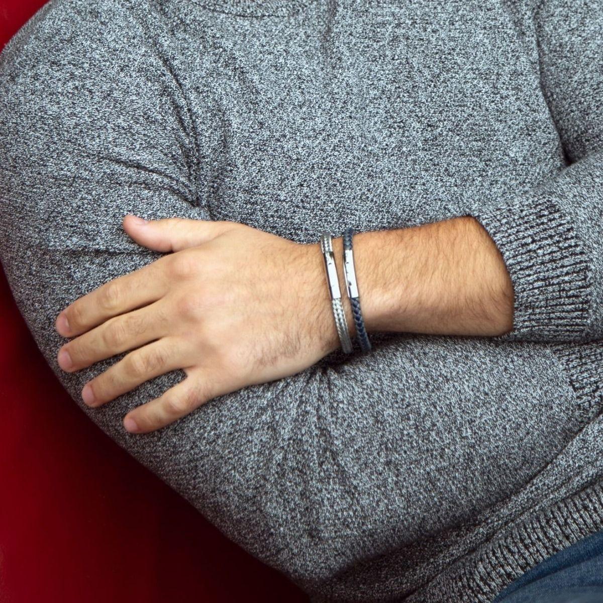 Buckley London Men's Barbican Blue & Grey Wrap