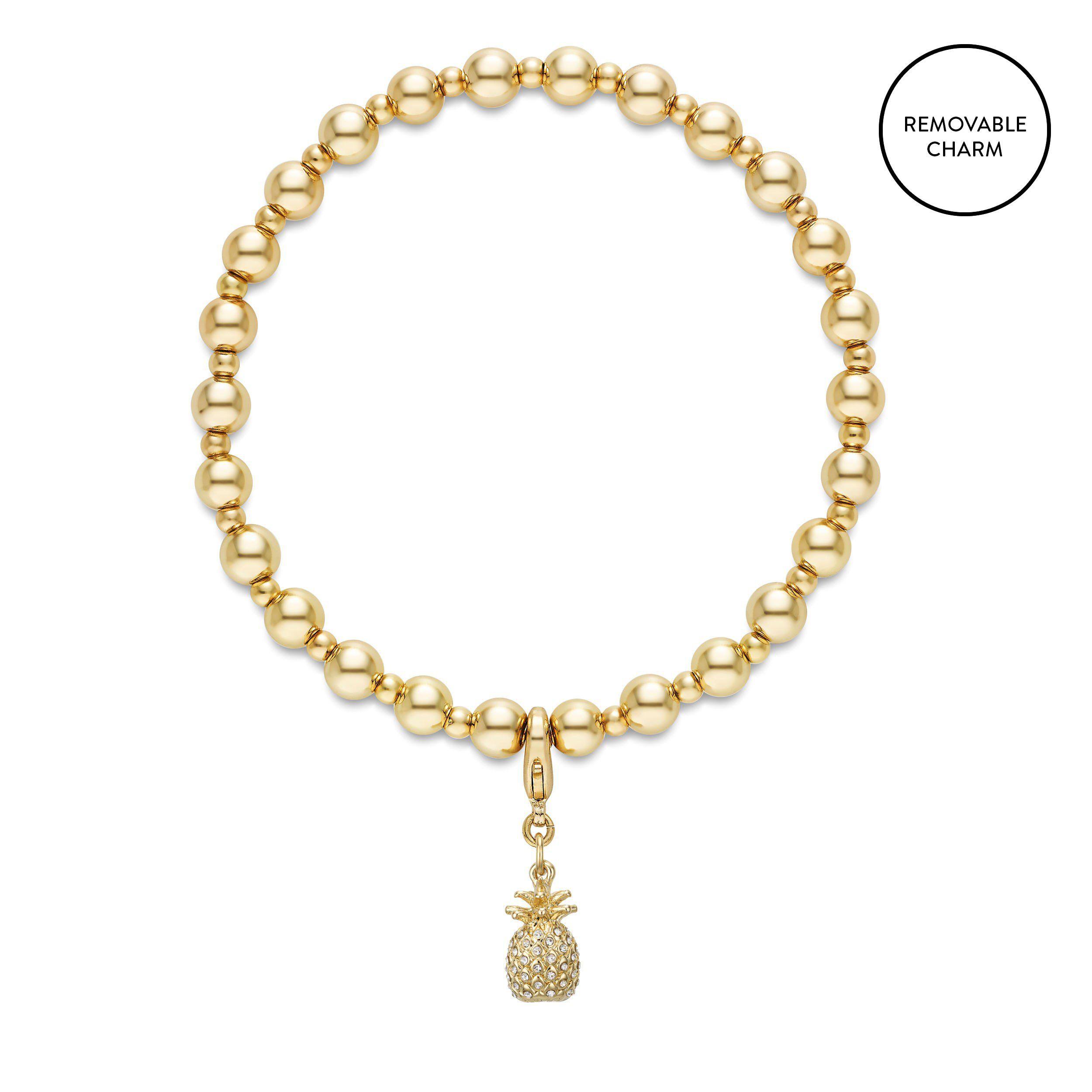 Buckley London Pineapple Charm Beaded Bracelet