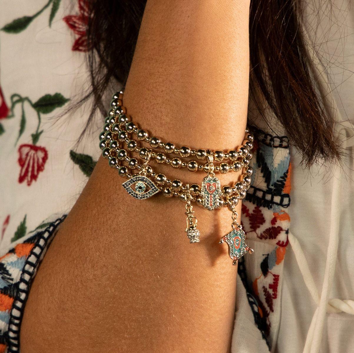 Buckley London Hamsa Hand Charm Bracelet