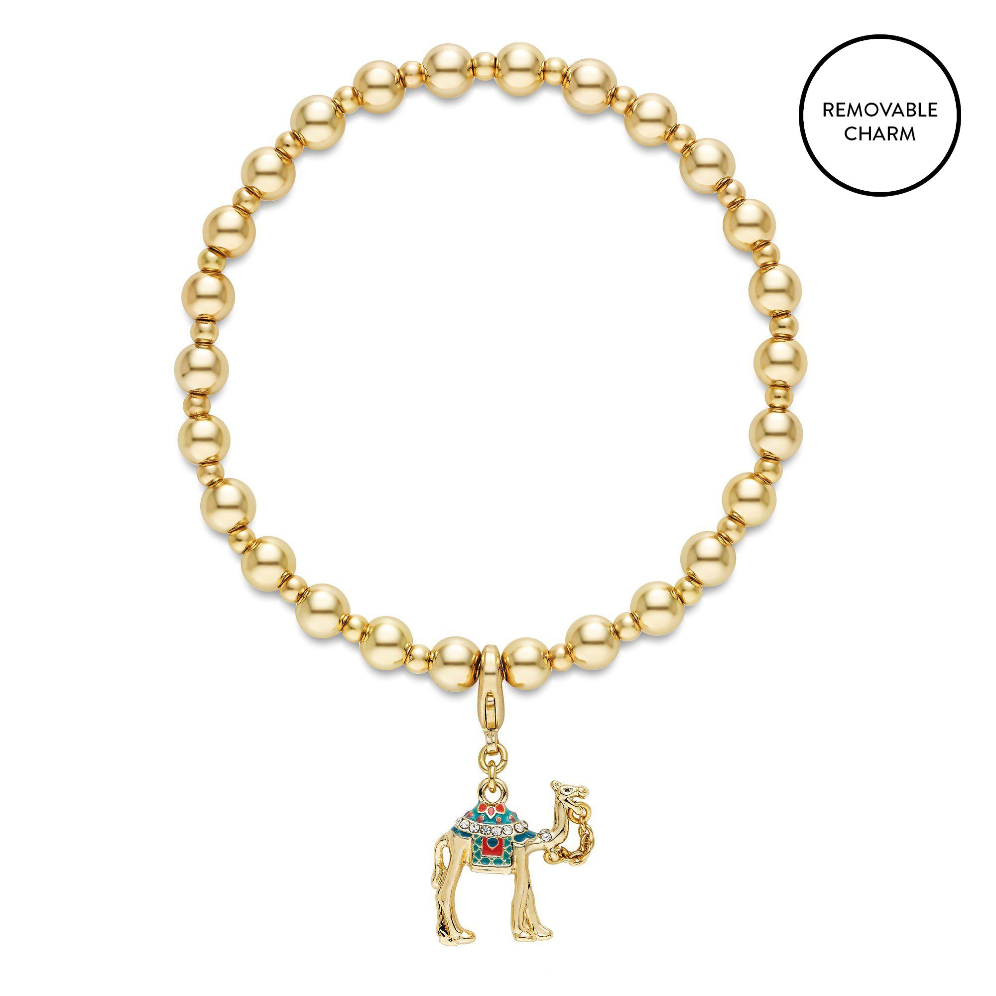 Buckley London Enamel Camel Charm Bracelet