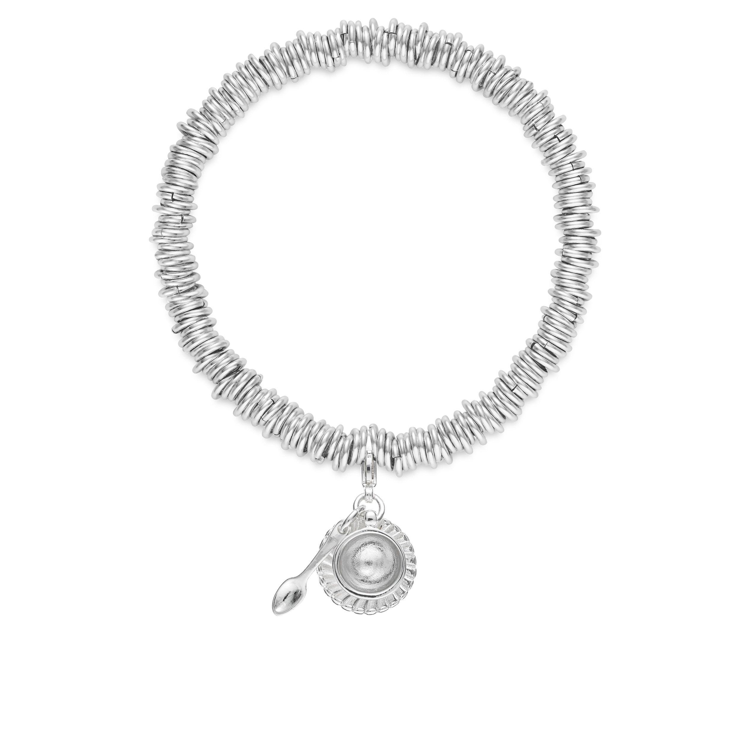 Buckley London Teacup and Saucer Charm Bracelet