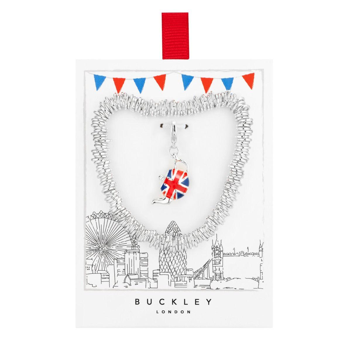 Union Jack Teapot Charm Bracelet