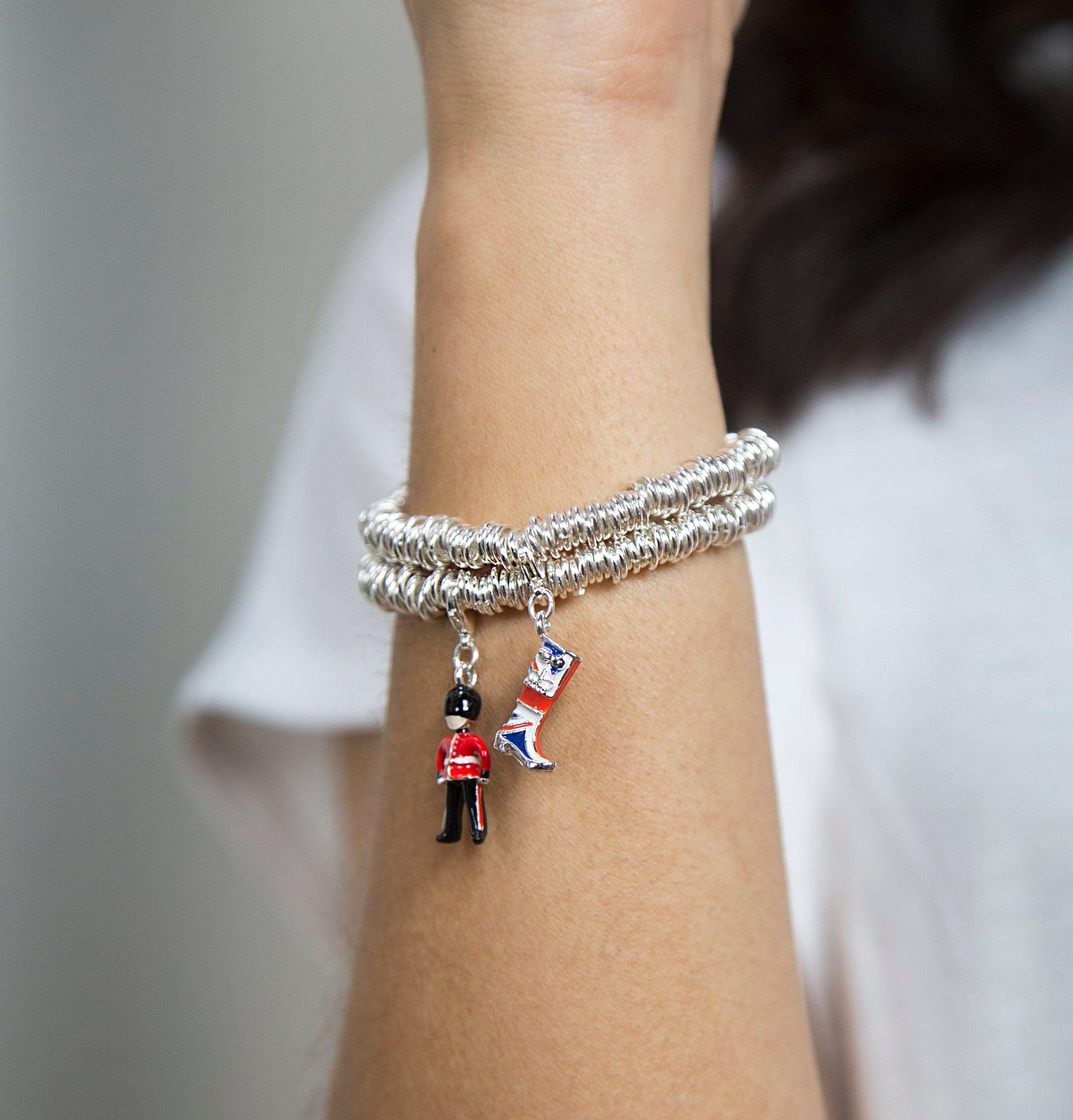 Buckley London Union Jack Wellington Charm Bracelet