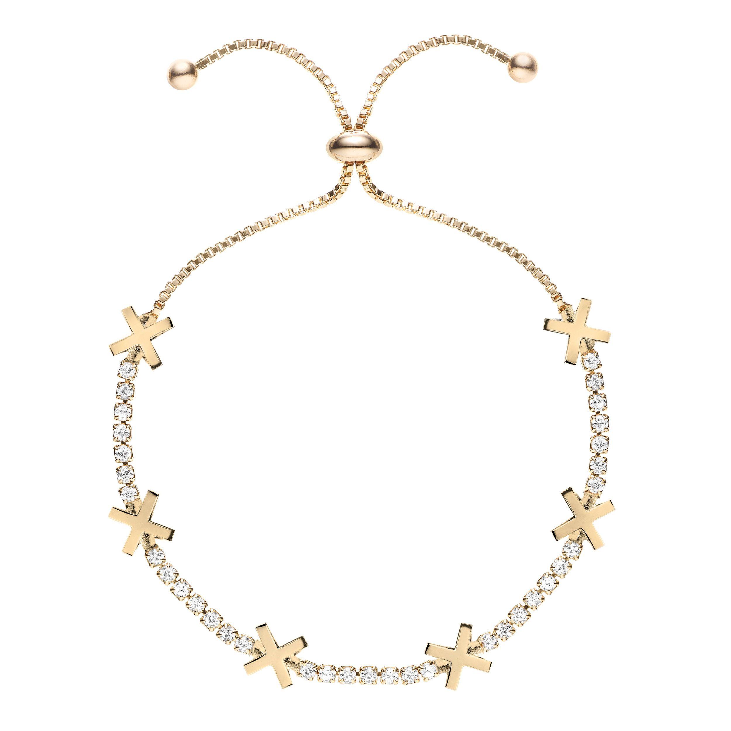 Buckley London Hugs & Kisses 'X' Bracelet - Gold