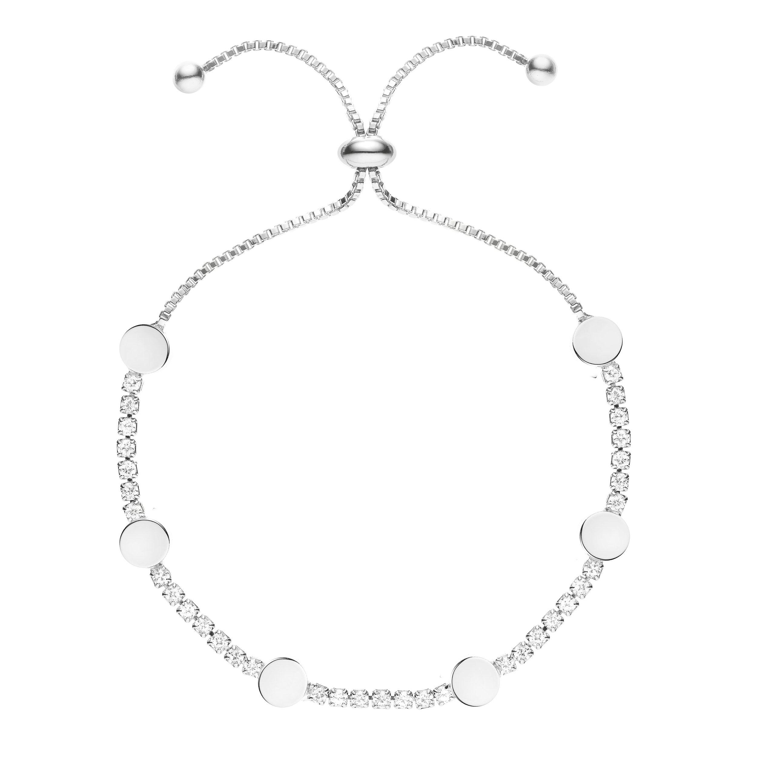 Buckley London Hugs & Kisses 'O' Bracelet - Silver