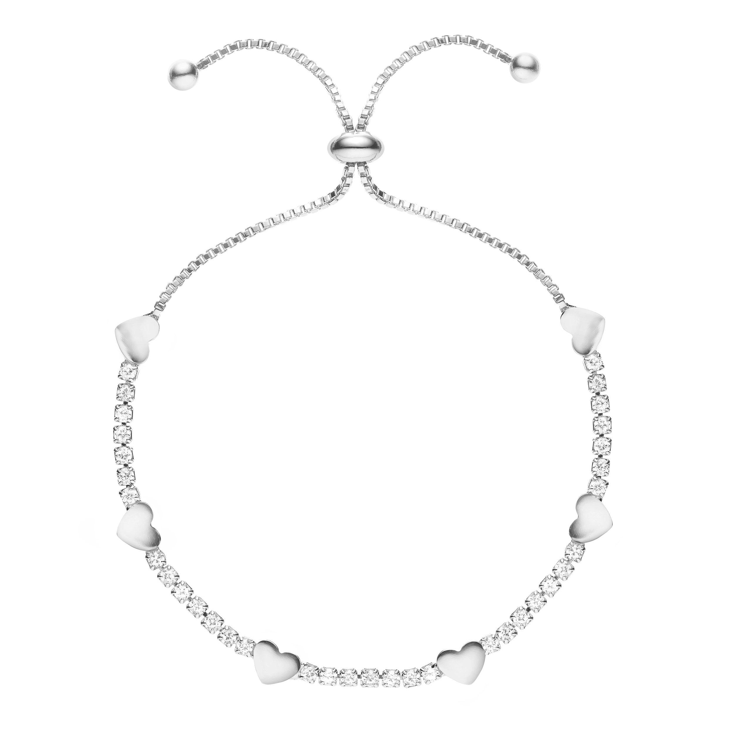 Buckley London Hugs & Kisses '♥' Bracelet - Silver