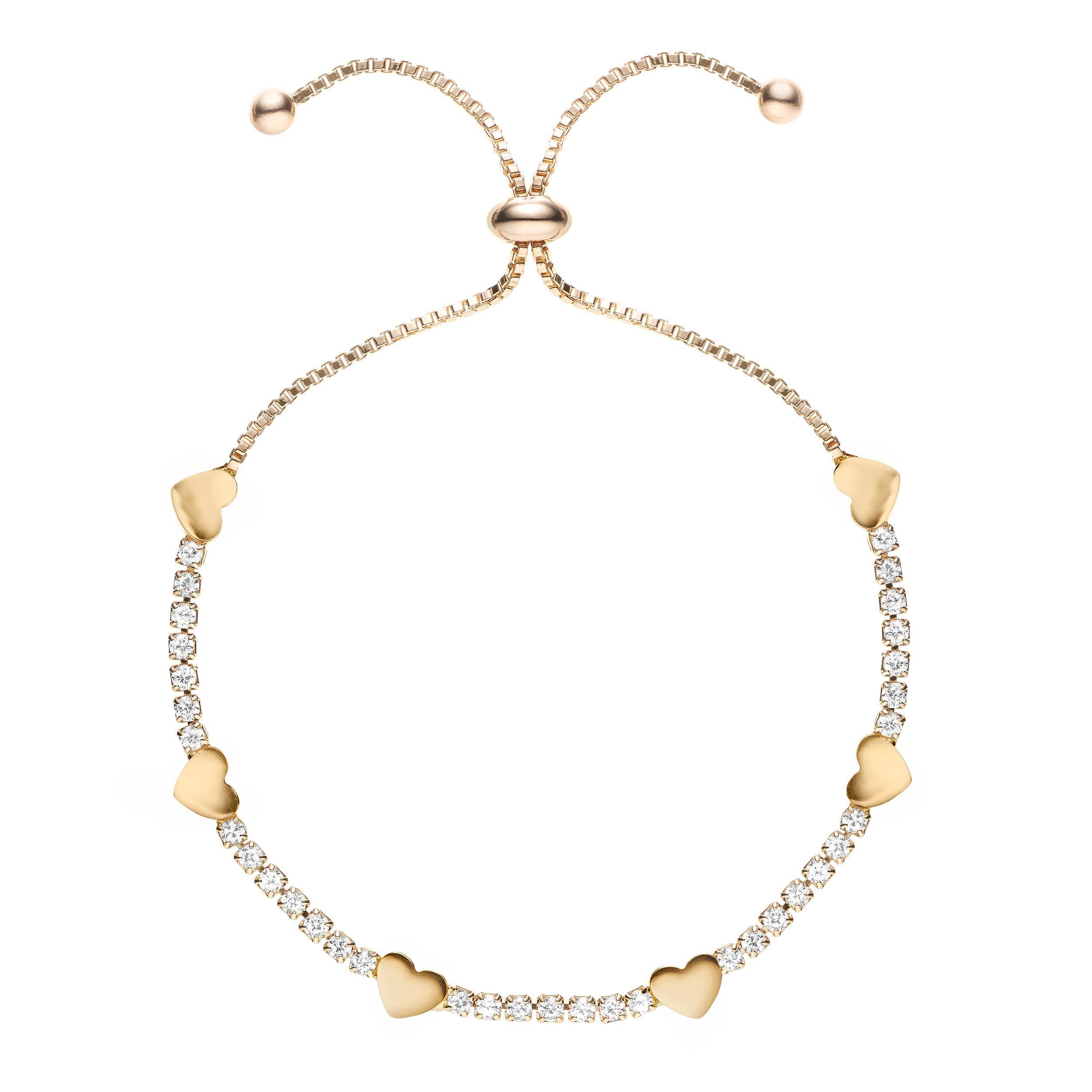 Buckley London Hugs & Kisses '♥' Bracelet - Gold