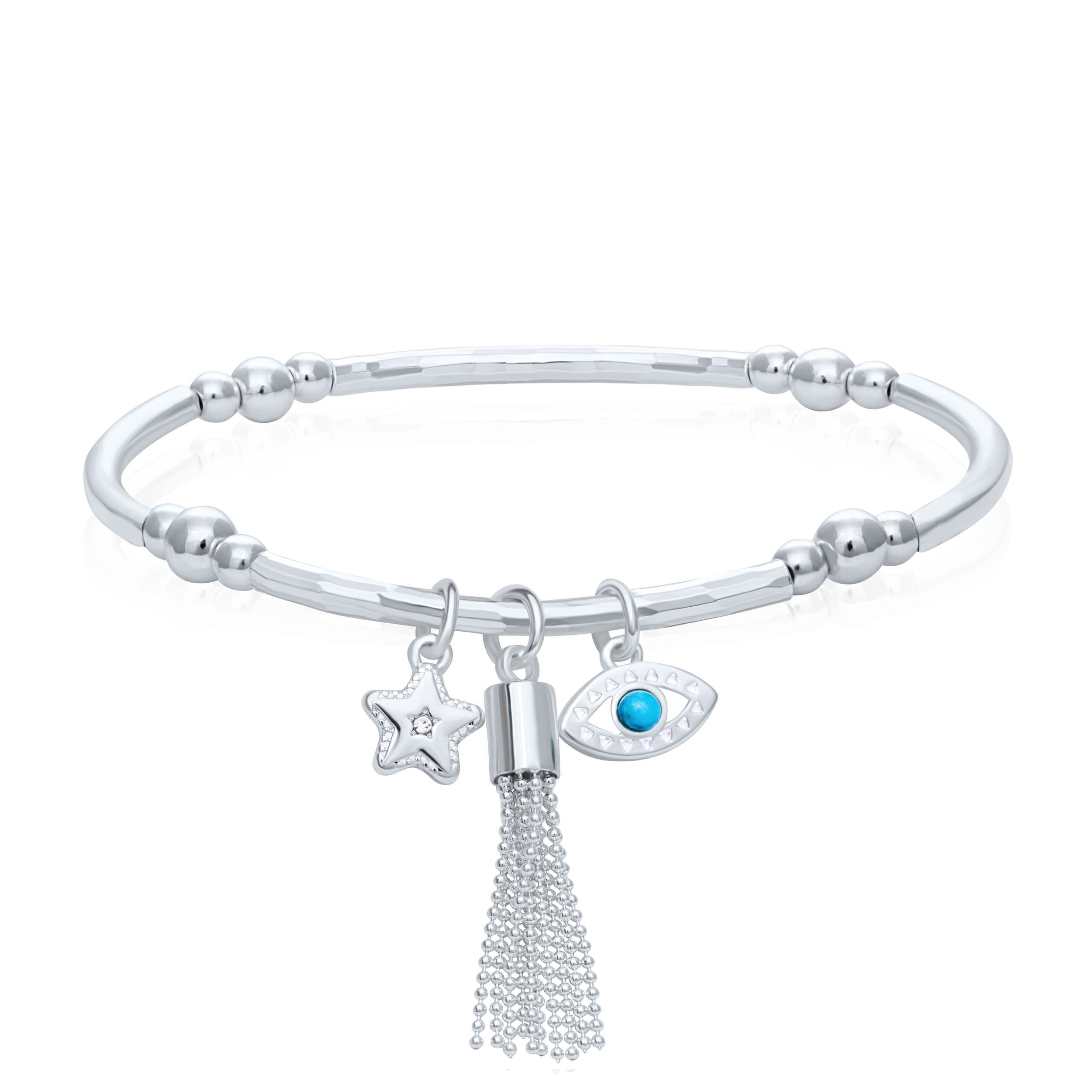 Buckely London Tassel Charm Wish Bracelet