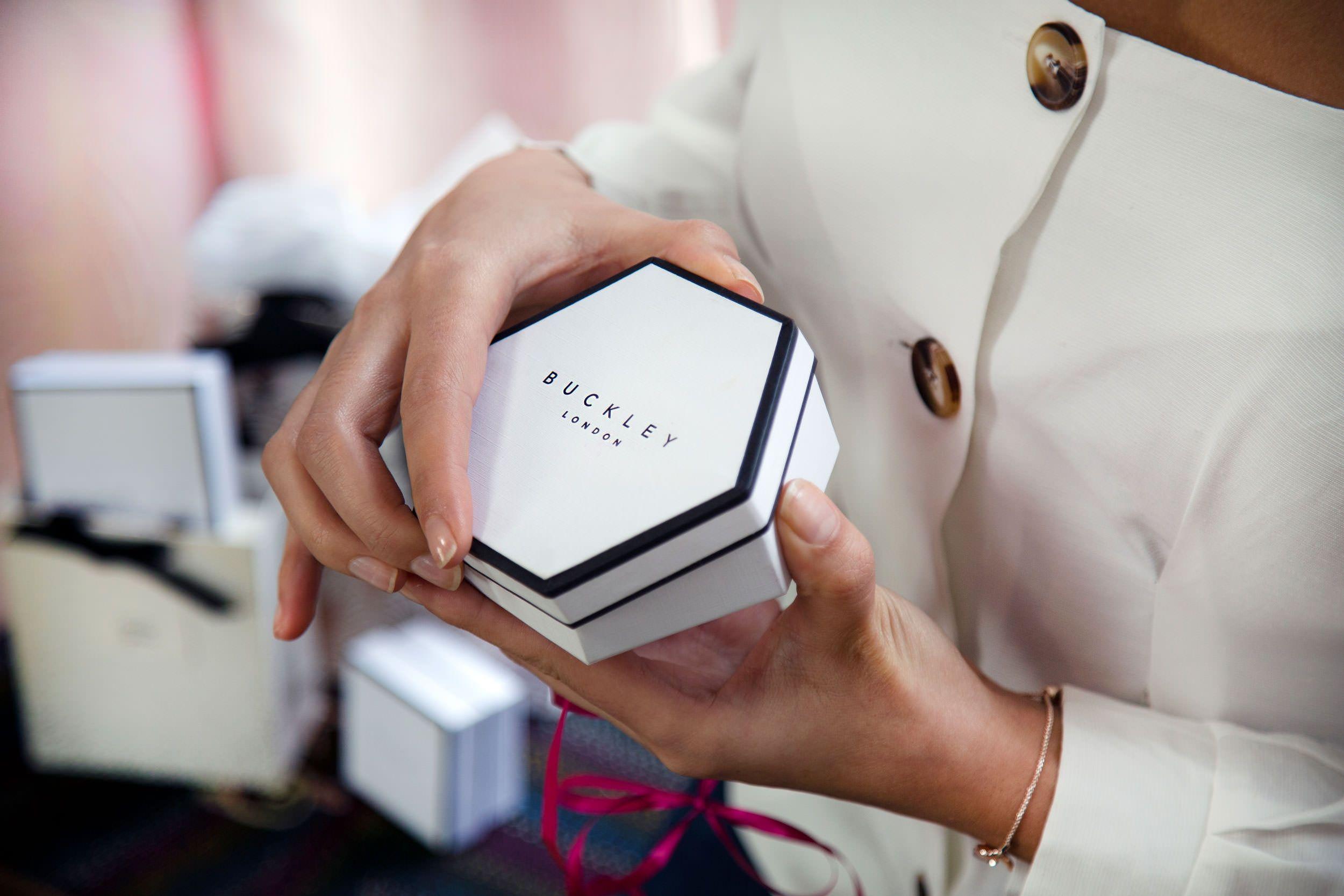 Buckley London Heart Bangle - Rose Gold Box